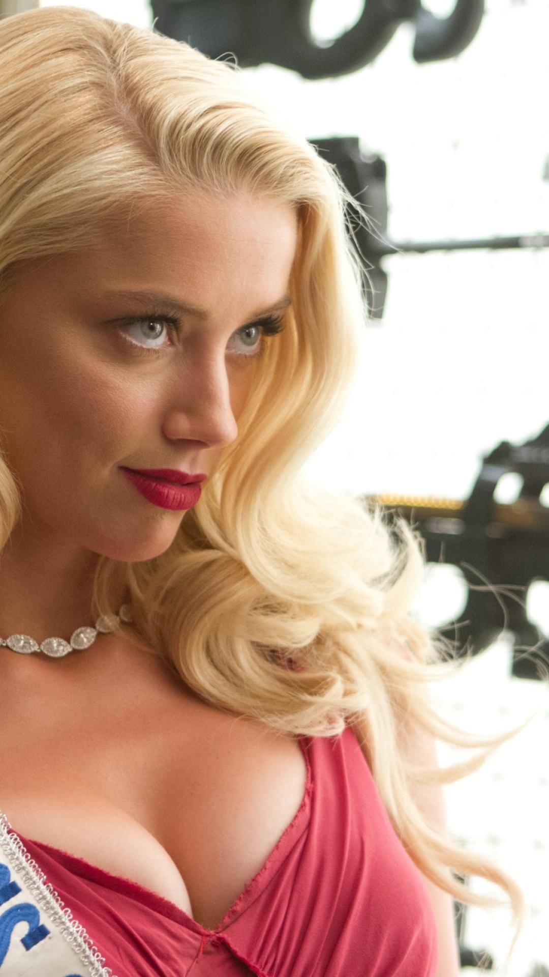 Amber Heard Hot Cleavage Photoshoot Full Hd 2k Wallpaper
