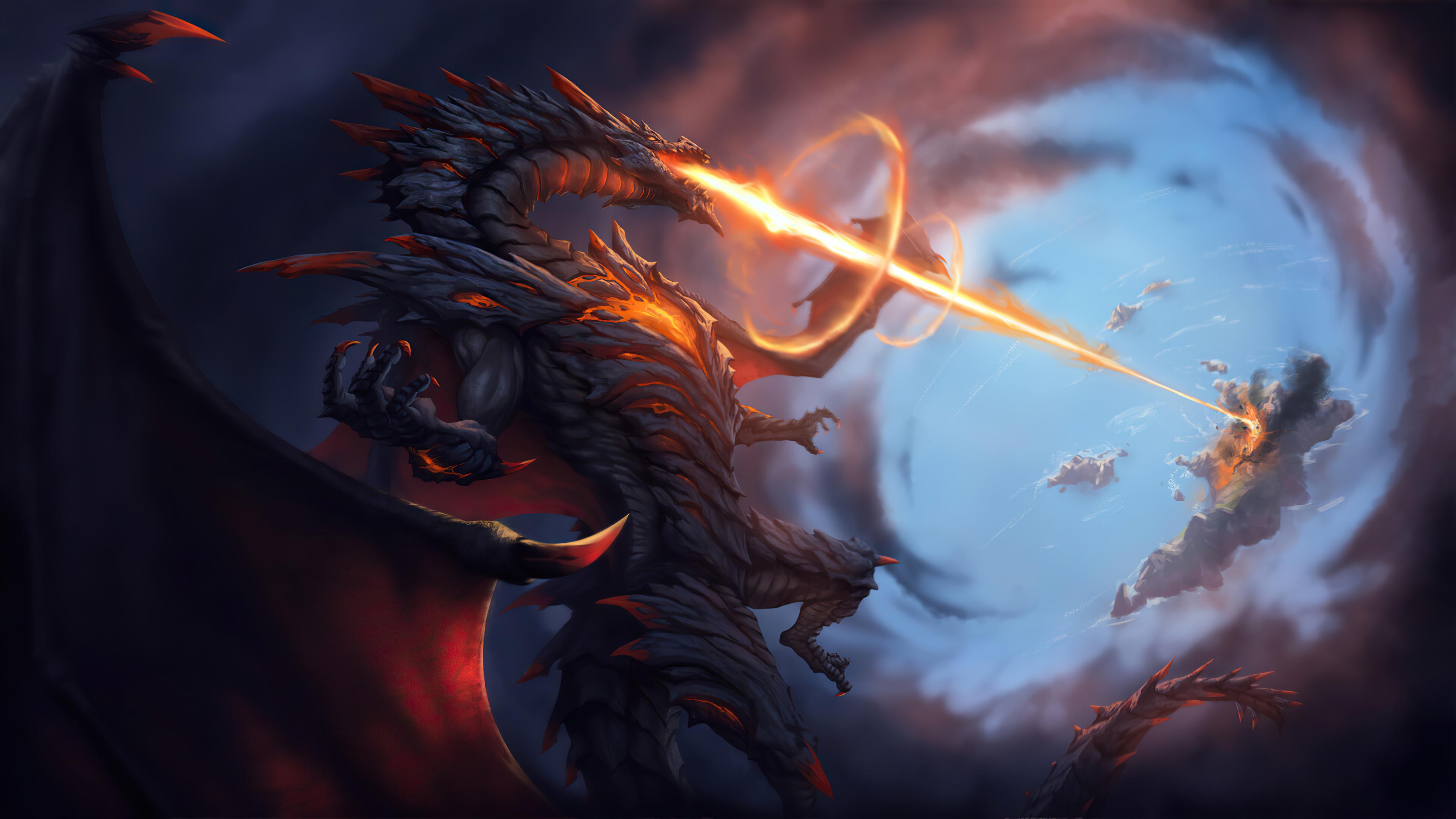 Angry Dragon 4K Art Wallpaper, HD Fantasy 4K Wallpapers ...