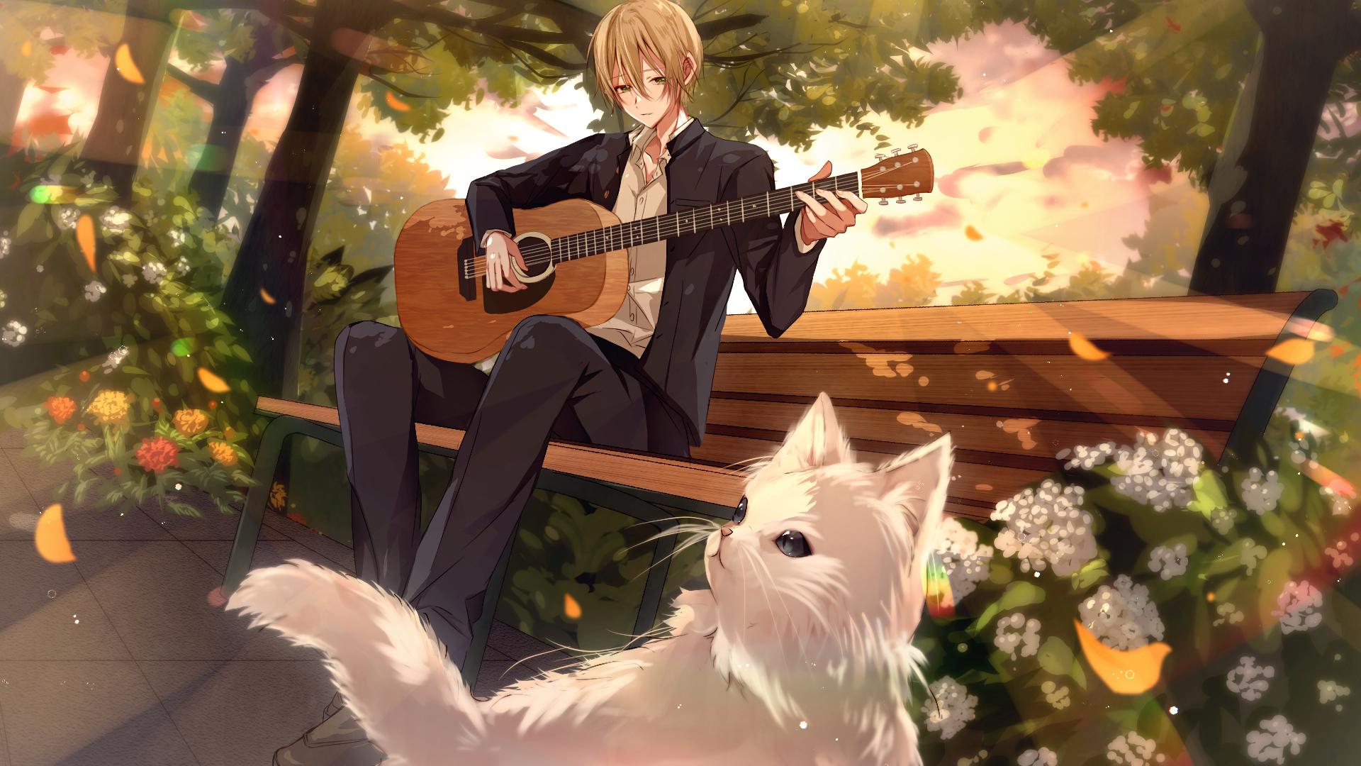 Anime Boy Playing Guitar Wallpaper, HD Anime 4K Wallpapers ...