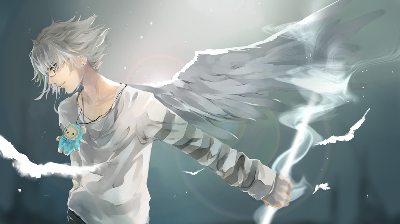 1366x768 Anime Boy Wings 1366x768 Resolution Wallpaper Hd Anime 4k Wallpapers Images Photos And Background