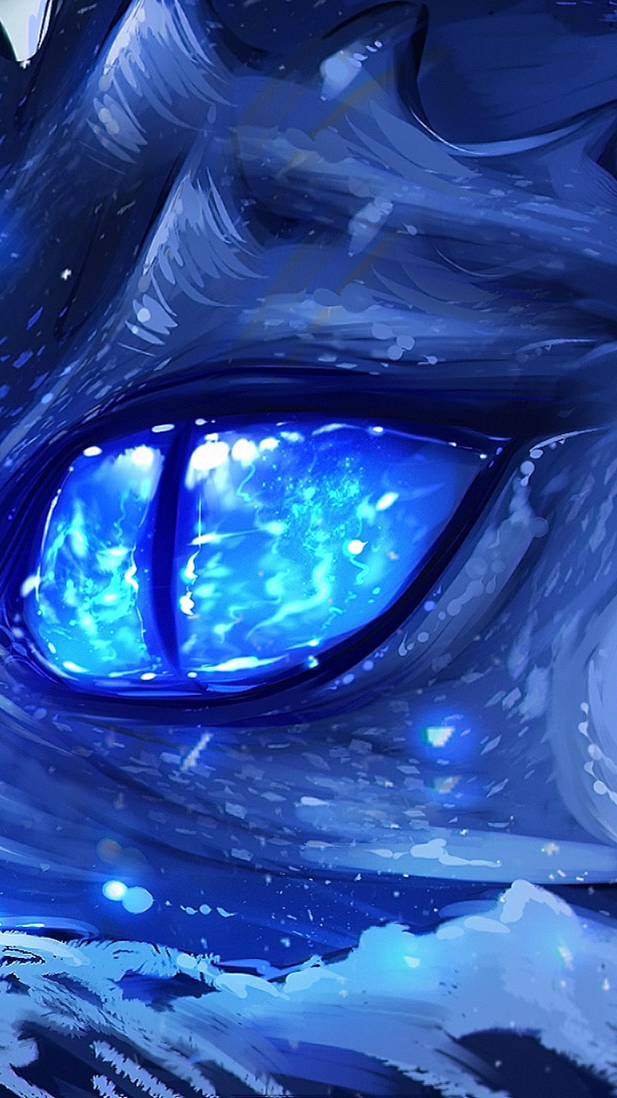 Anime Dragon Eye, Full HD Wallpaper