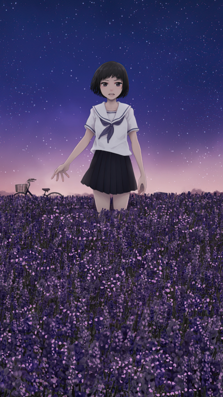 720x1280 Anime Girl In Field Moto G X Xperia Z1 Z3 Compact Galaxy S3 Note Ii Nexus Wallpaper Hd Artist 4k Wallpapers Images Photos And Background