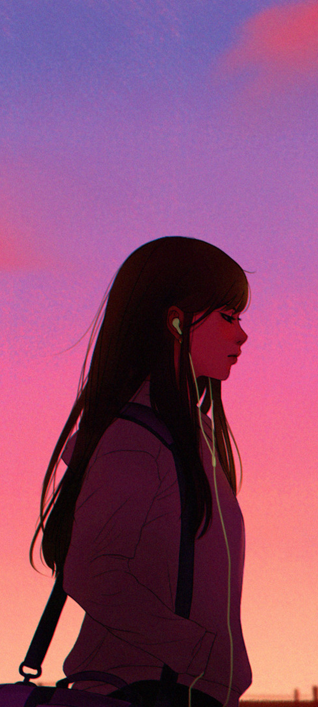 1080x2400 Anime Girl Listening Music 1080x2400 Resolution ...