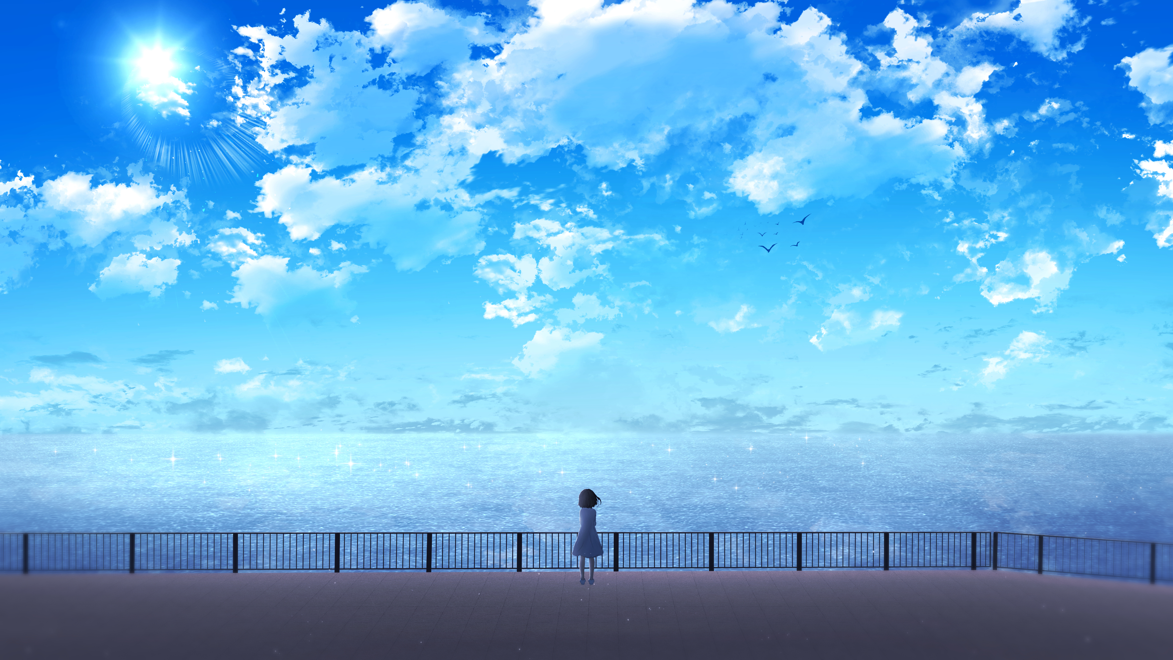2560x1600 Anime Girl Near Ocean 2560x1600 Resolution Wallpaper Hd Anime 4k Wallpapers Images Photos And Background