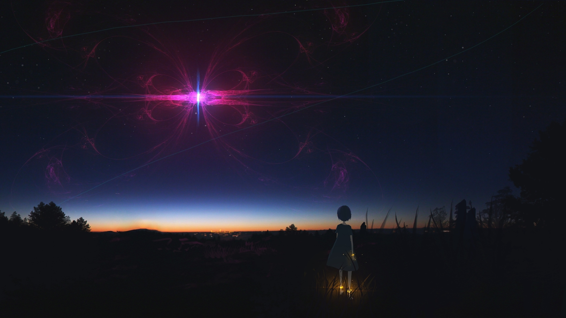 640x960 Anime Girl Staring At Night Sky Iphone 4 Iphone 4s Wallpaper Hd Anime 4k Wallpapers Images Photos And Background