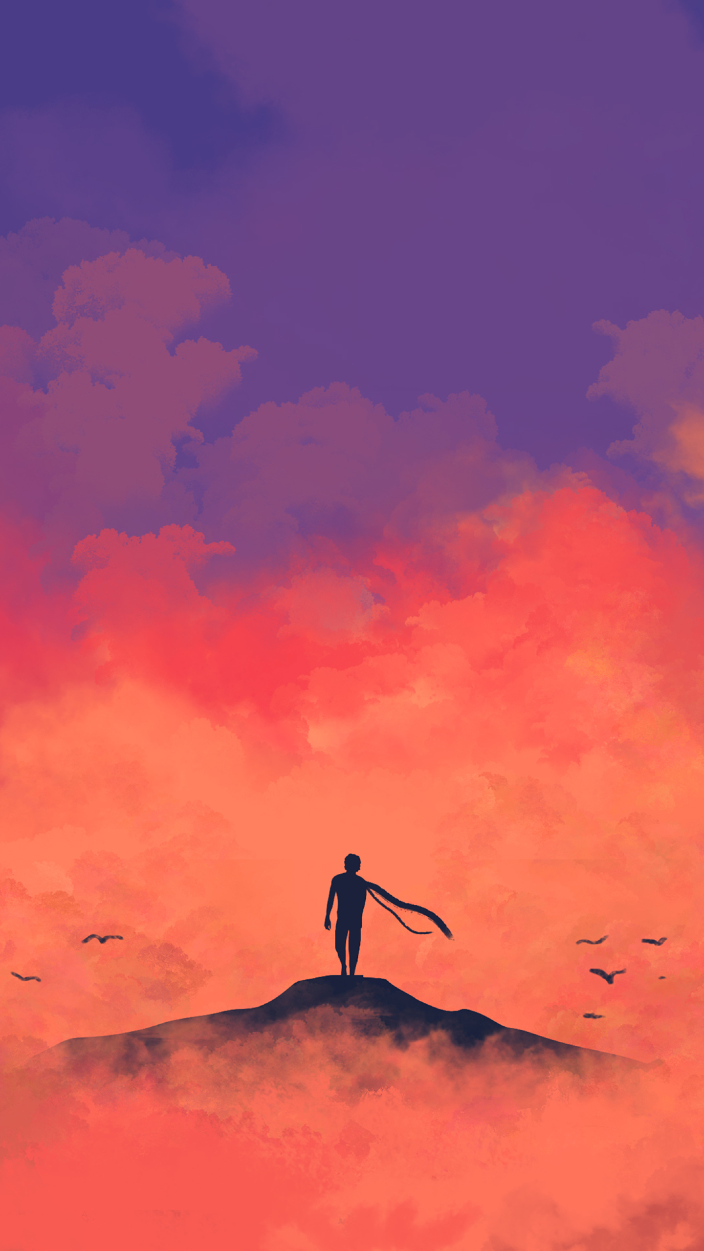 Anime Minimalism, HD 4K Wallpaper