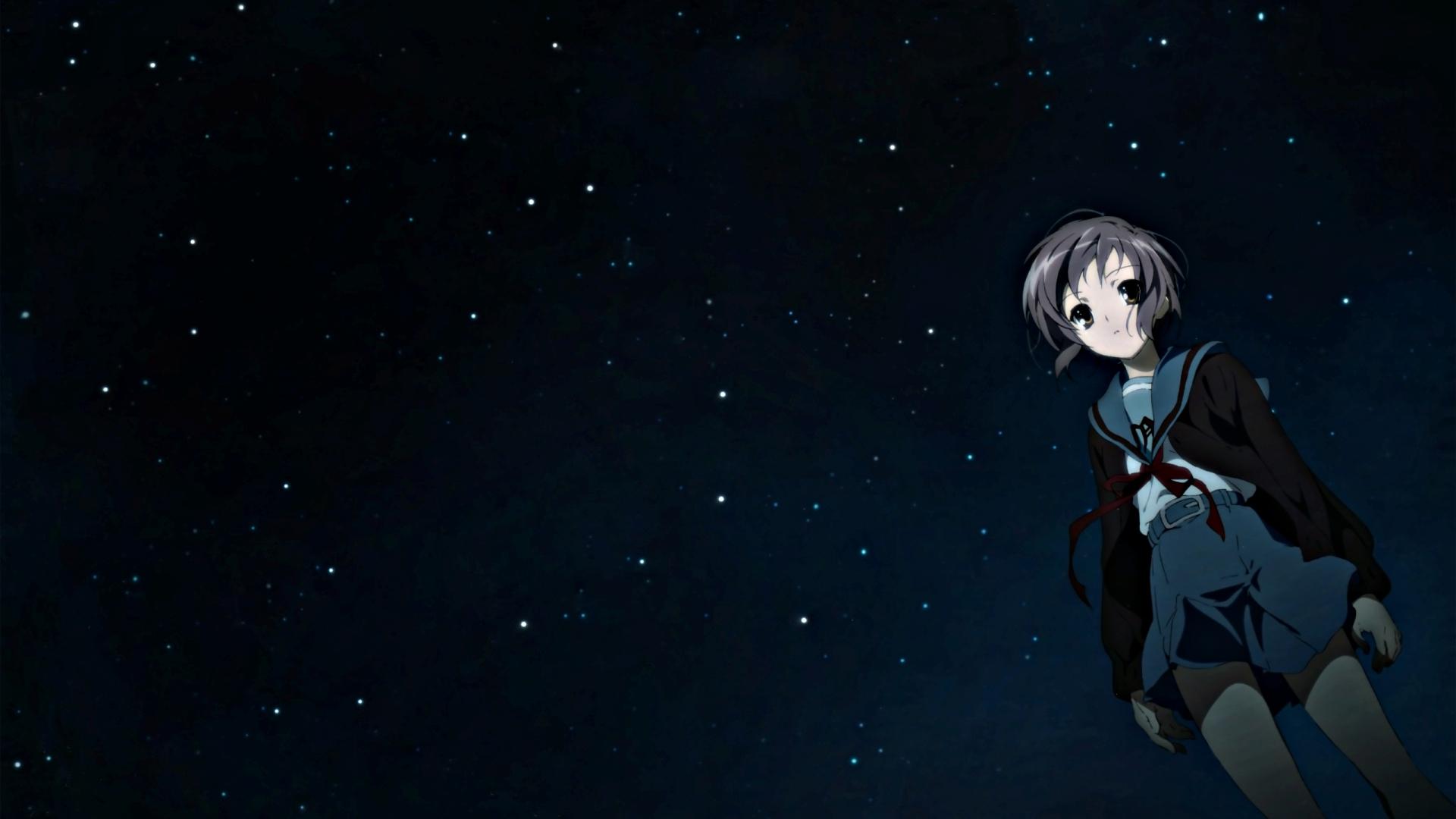 1920x1080 anime, night, sky 1080P Laptop Full HD Wallpaper ...