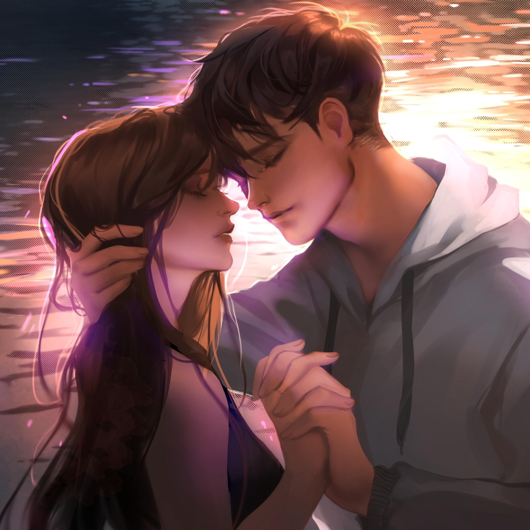 2048x2048 Anime Romantic Couple 2019 Ipad Air Wallpaper ...