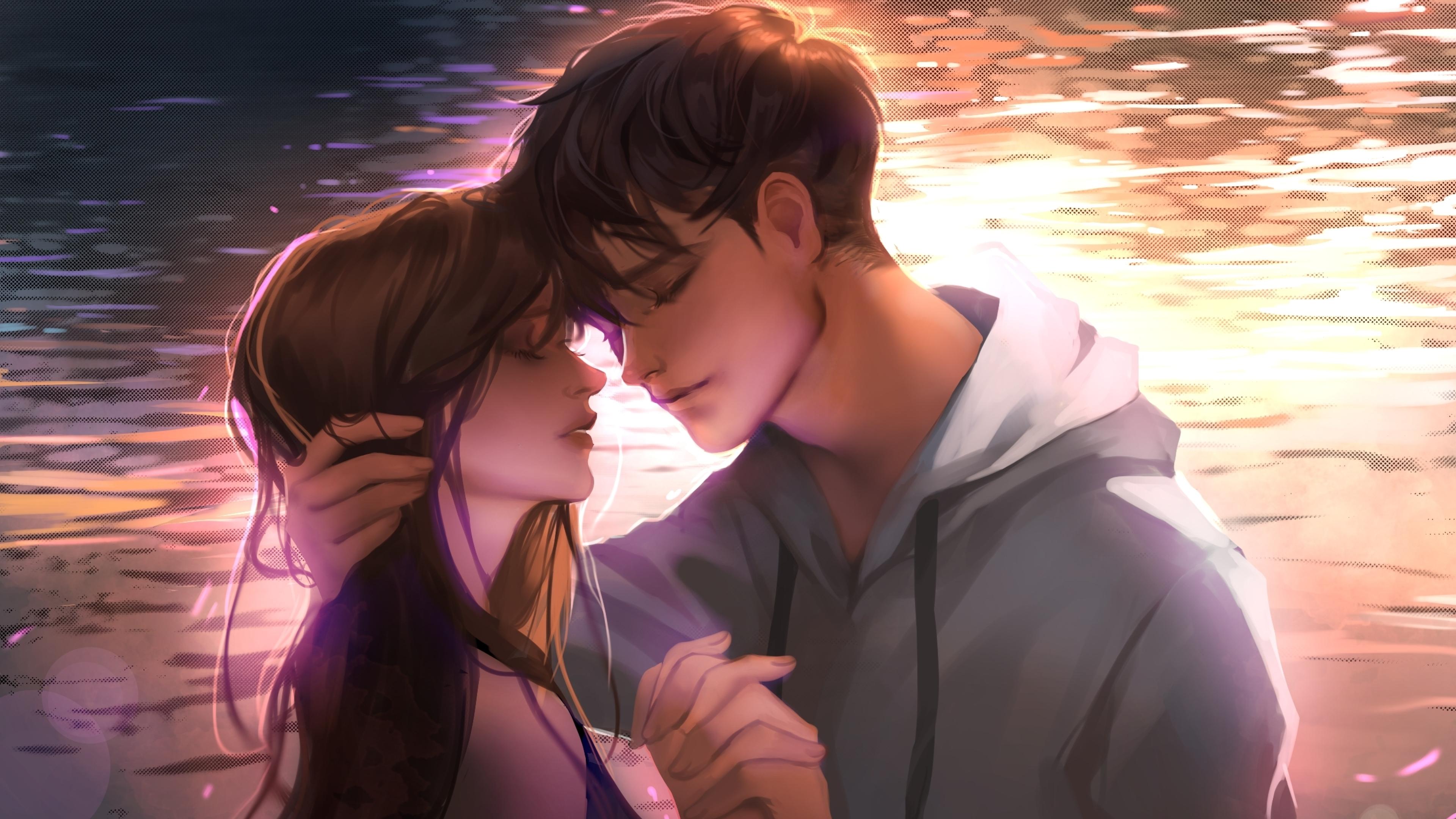 anime romantic couple