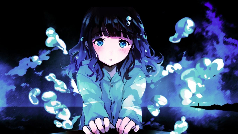 1360x768 Anime Sad Girl Desktop Laptop Hd Wallpaper Hd