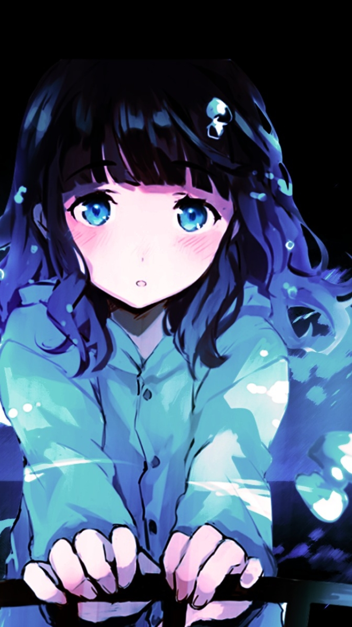 720x1280 Anime Sad Girl Moto G X Xperia Z1 Z3 Compact