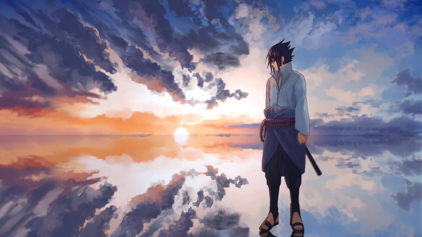 1366x768 Anime Sasuke Uchiha 1366x768 Resolution Wallpaper ...