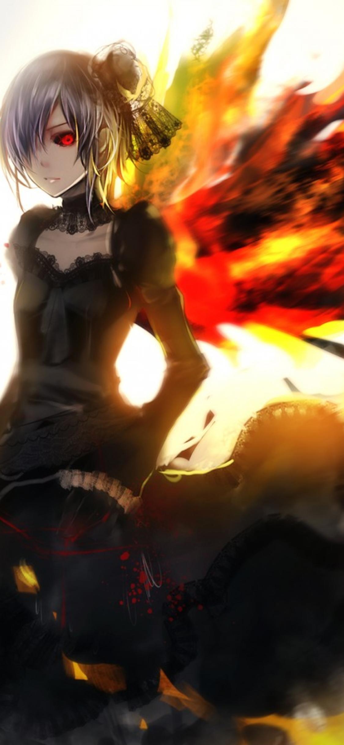 1125x2436 anime, tokyo ghoul, kirishima touka Iphone XS ...