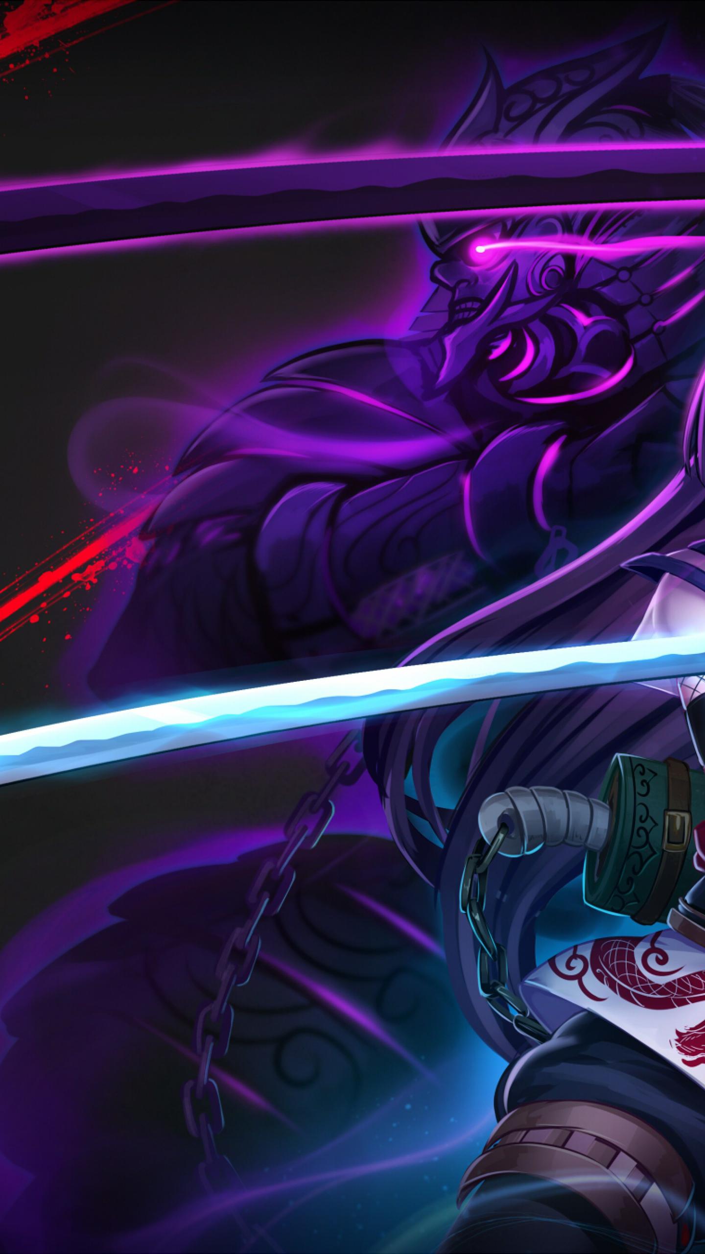 Anime Warrior Girl, Full HD 2K Wallpaper