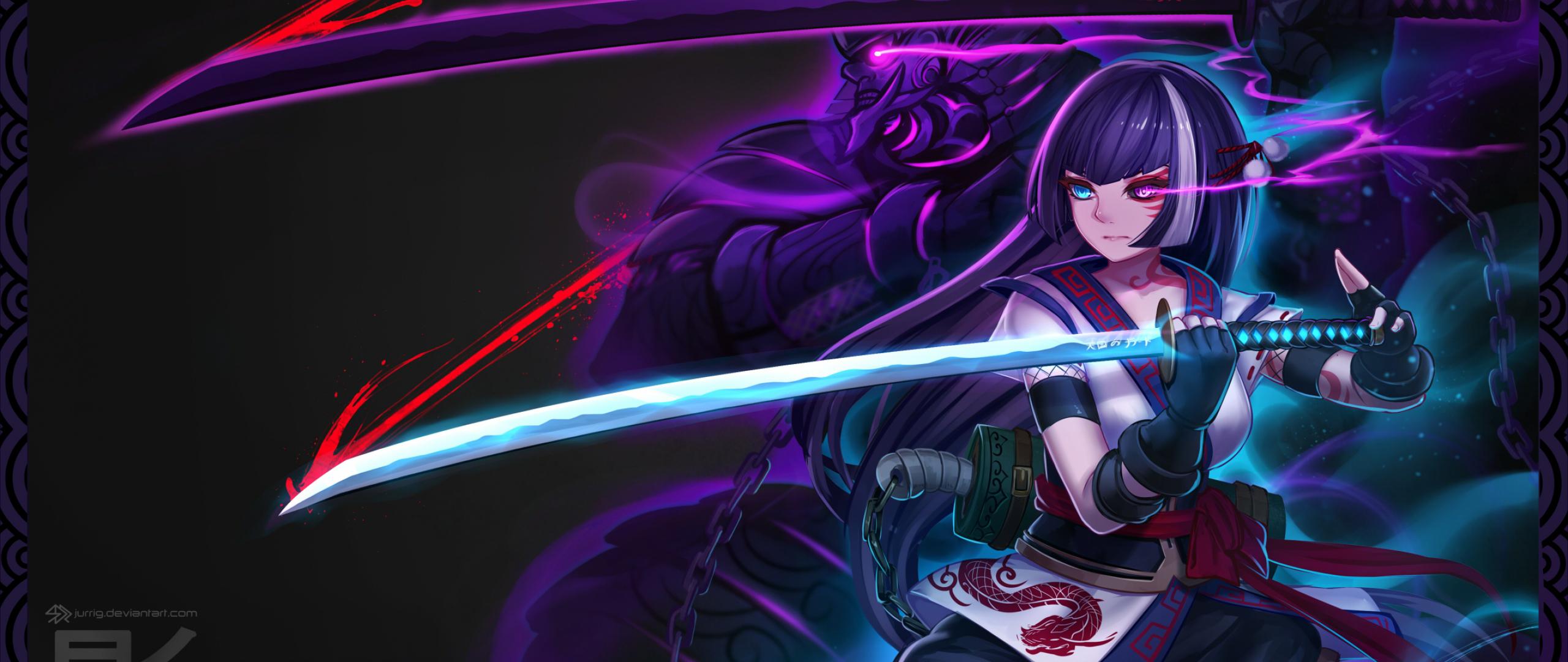 Anime warrior girl full hd 2k wallpaper - Best anime picture hd ...