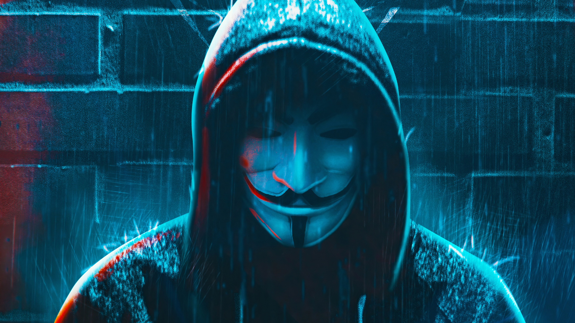1920x1080 Anonymous 4K Hacker Mask 1080P Laptop Full HD ...