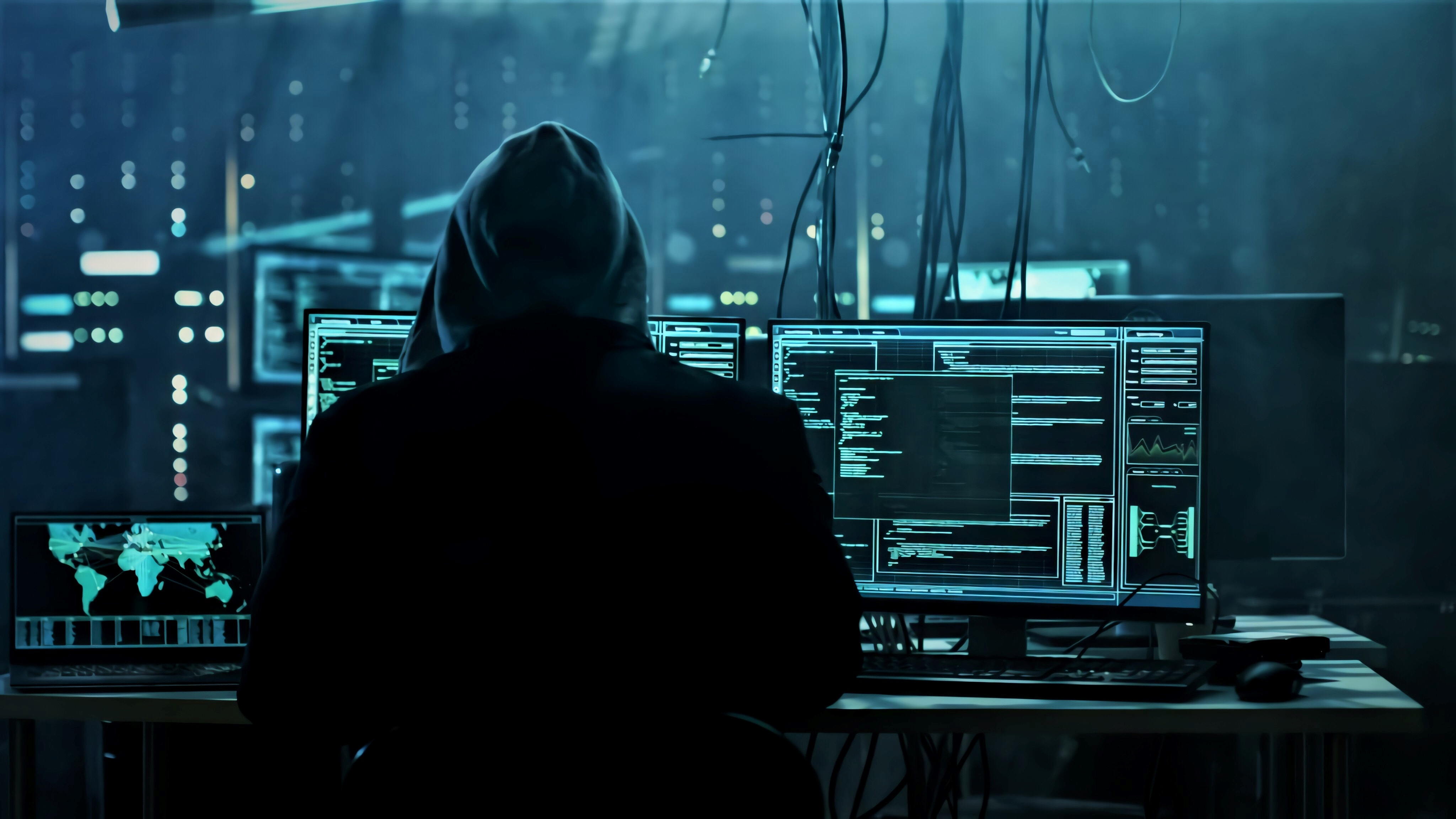 Anonymous Hacker Working Wallpaper, HD Hi-Tech 4K ...