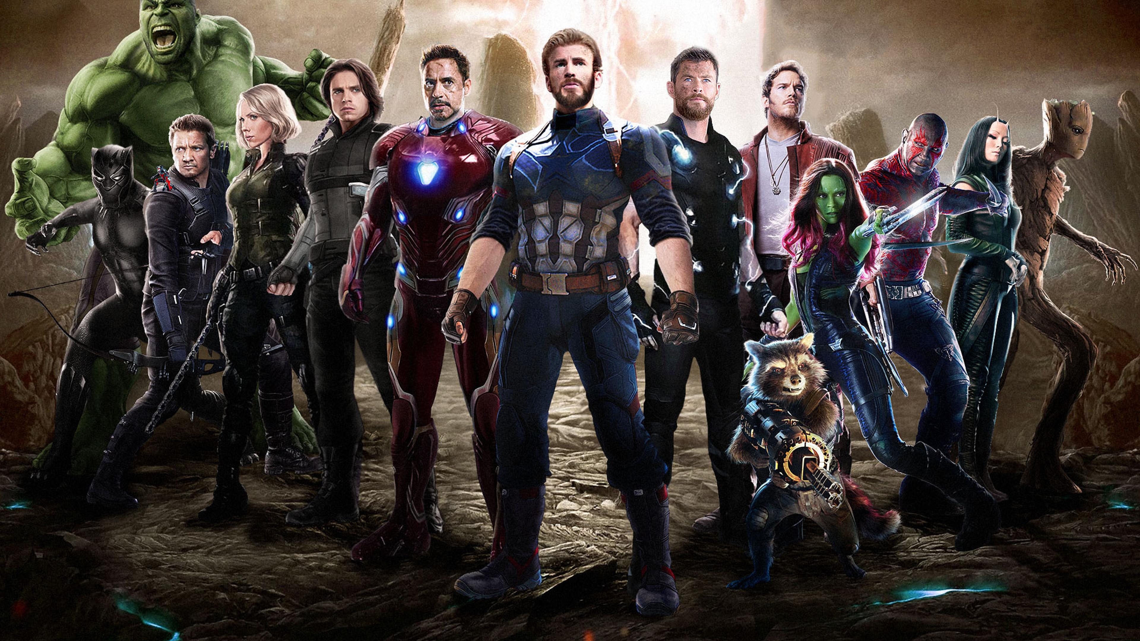 3840x2160 Ant Man Captain America Hulk Black Panther