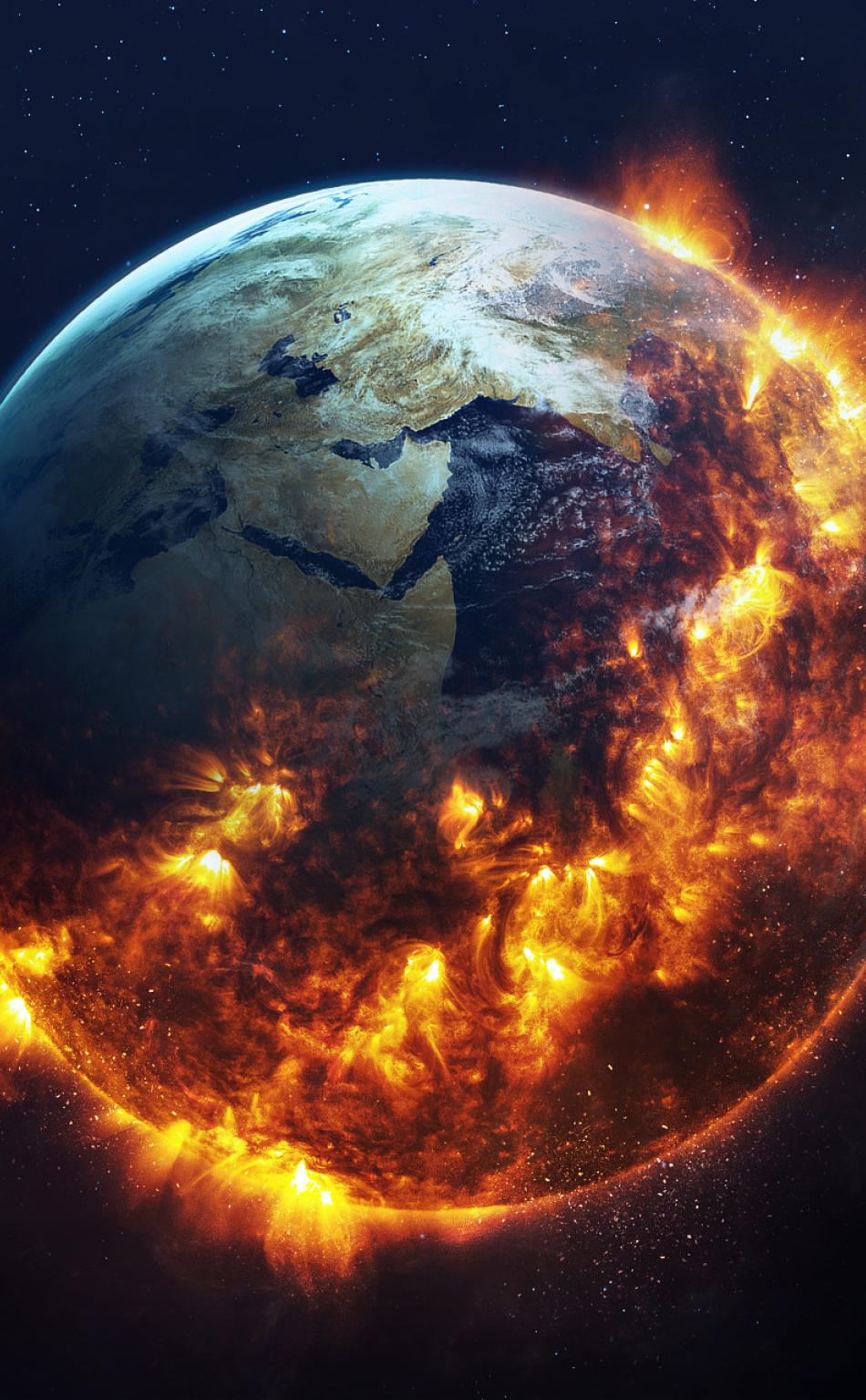 Apocalyptic Earth Art  Full Hd 2k Wallpaper
