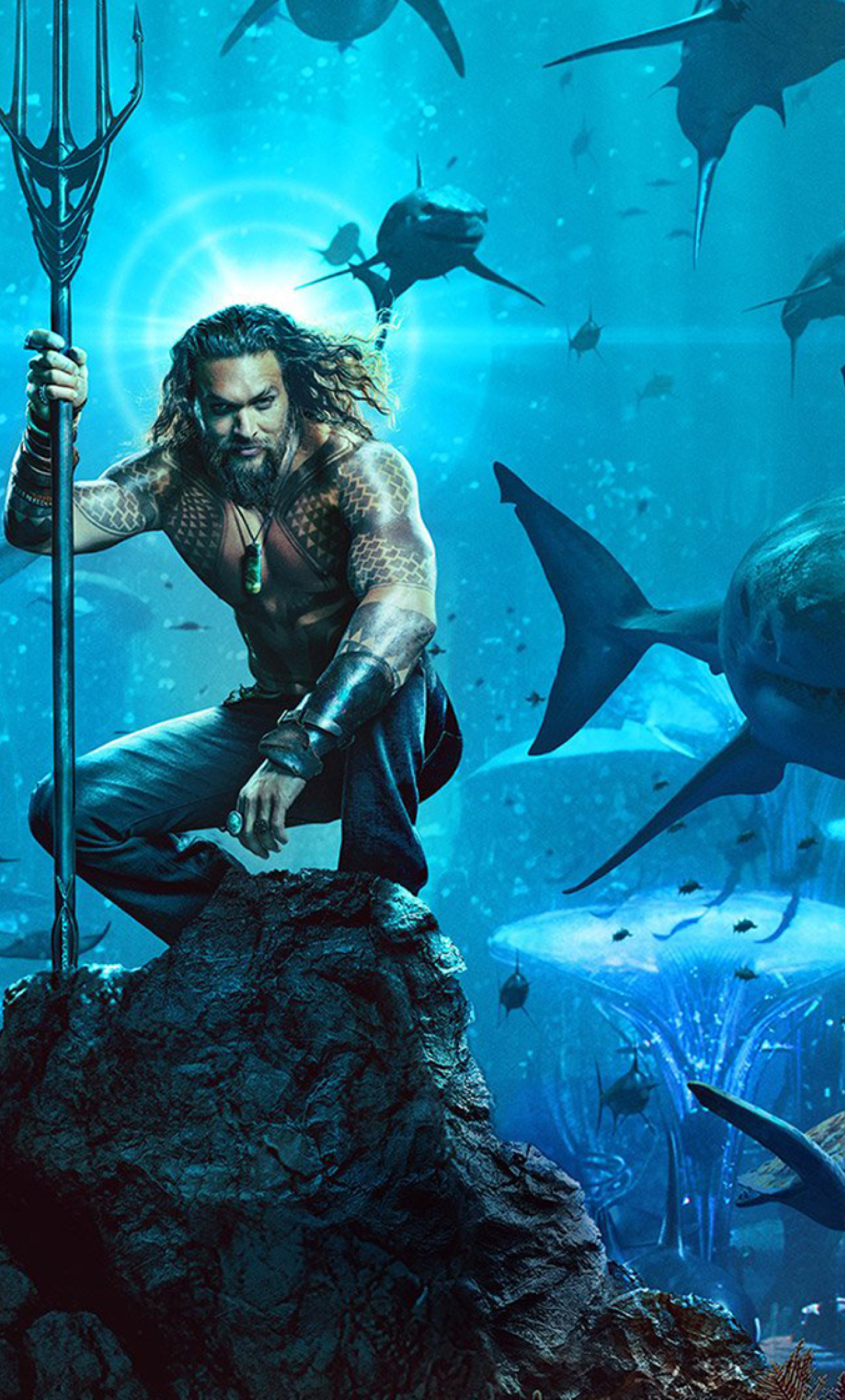 Download aquaman 2018 movie poster 480x854 resolution - Movie poster wallpaper ...