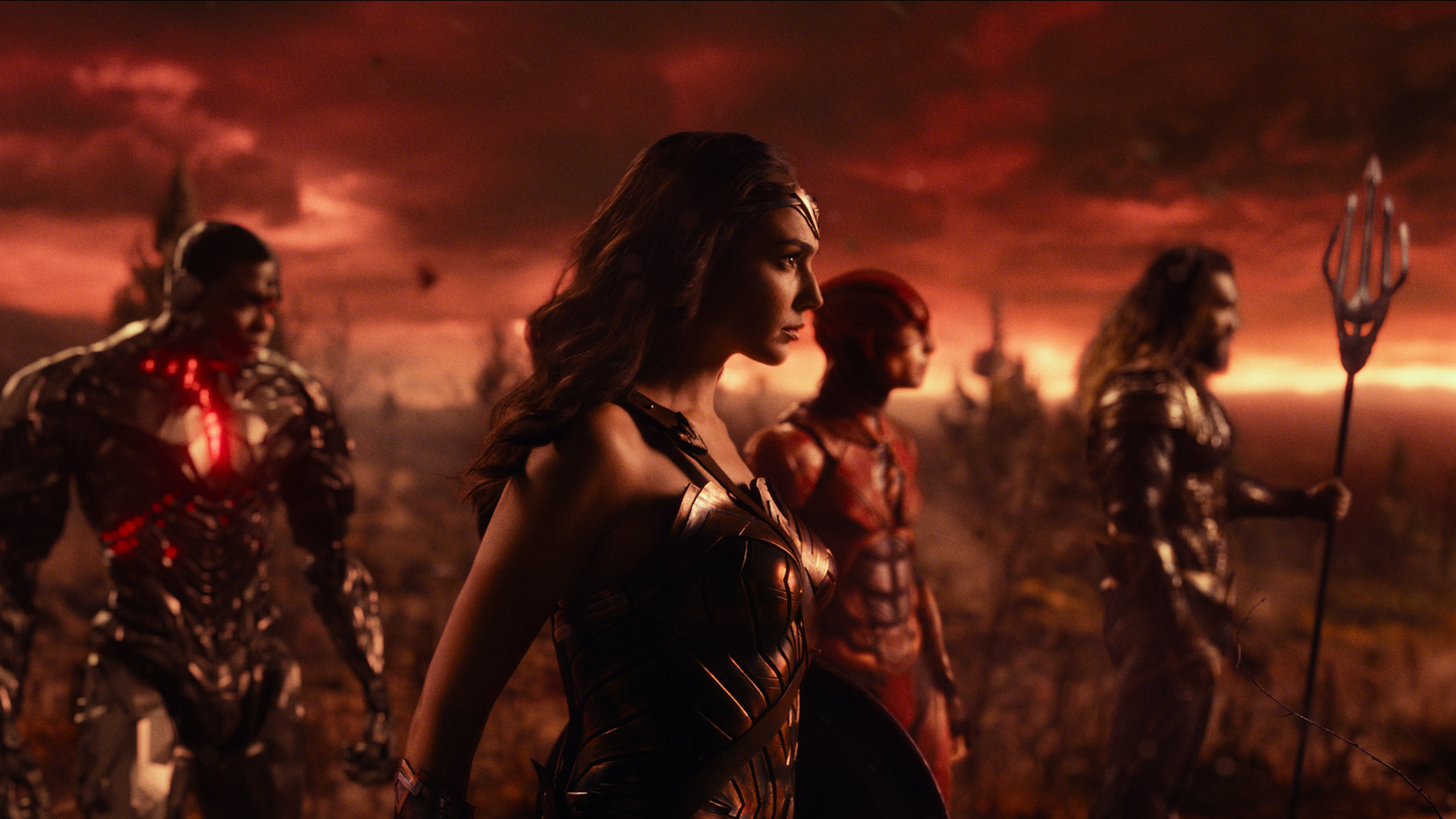 Aquaman Cyborg Flash Gal Gadot And Wonder Woman Justice League Wallpaper Background