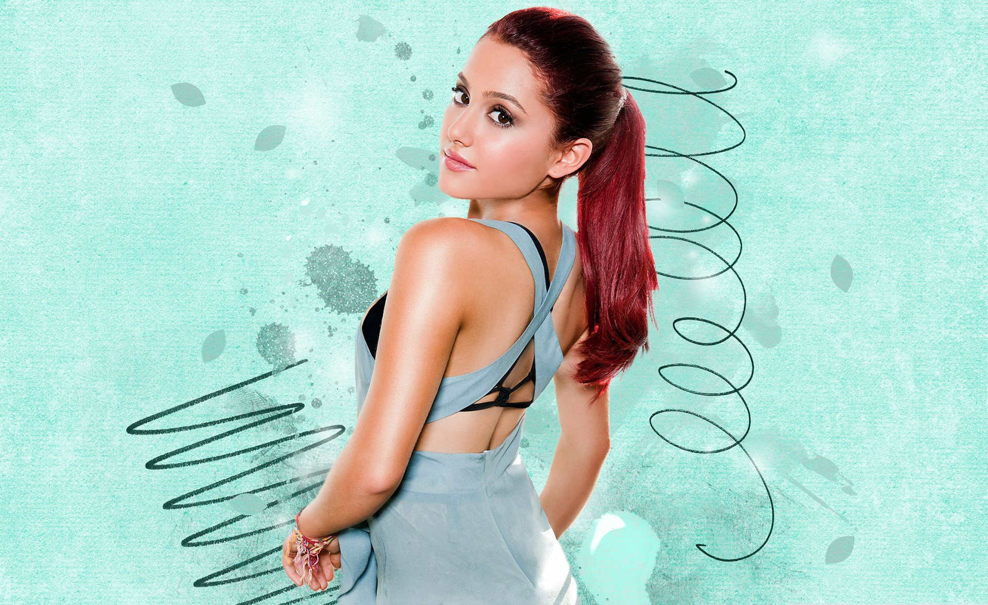 Download Ariana Grande Abstract Photoshoot 7680x4320 Resolution