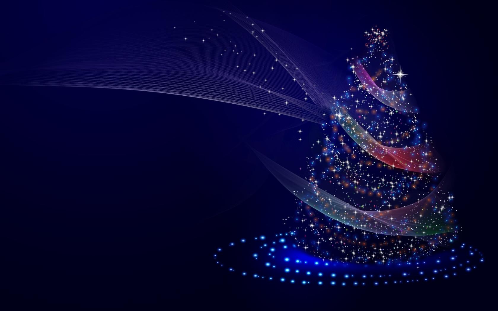 download artistic blue christmas tree 1680x1050 resolution, full hd