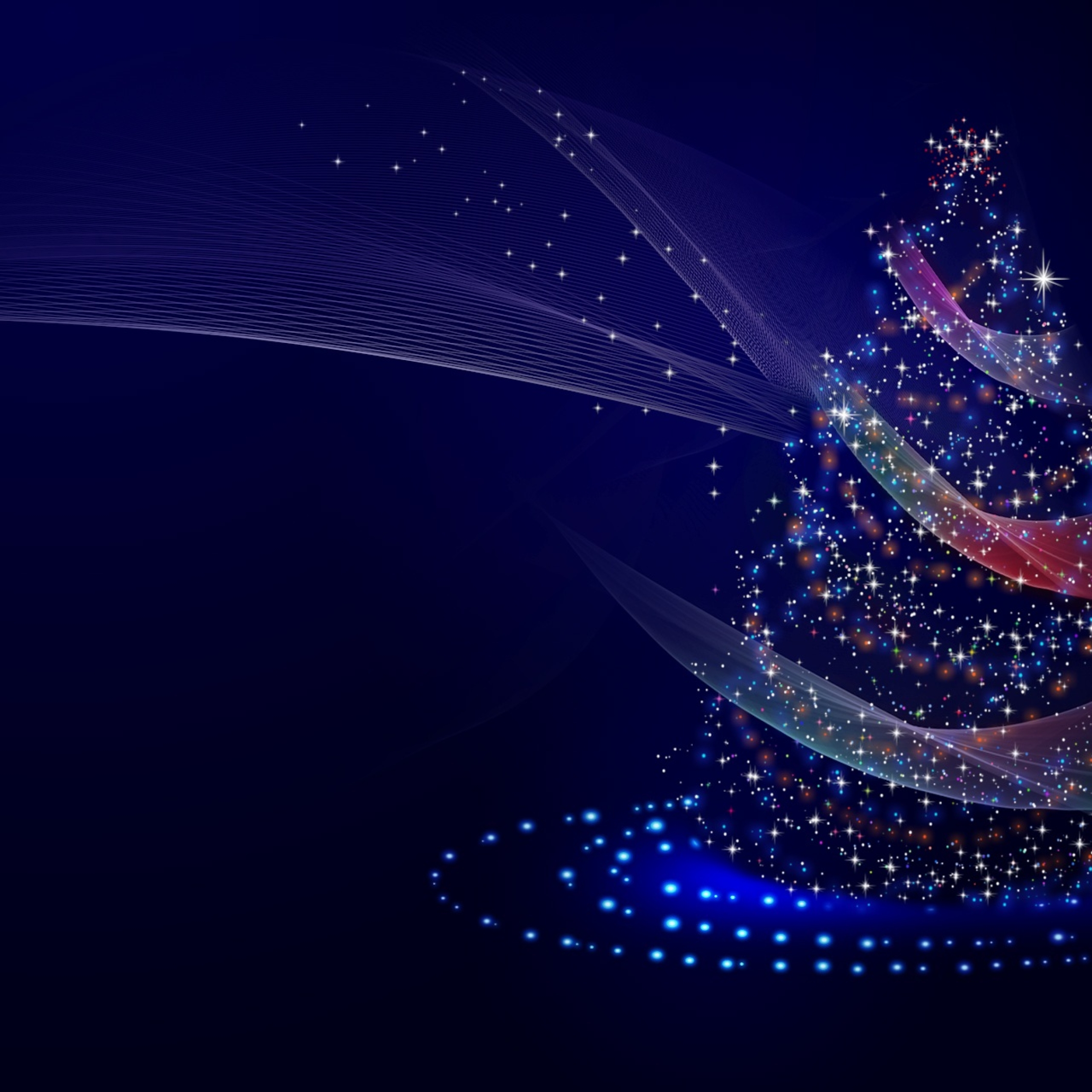 Artistic Blue Christmas Tree Full HD Wallpaper