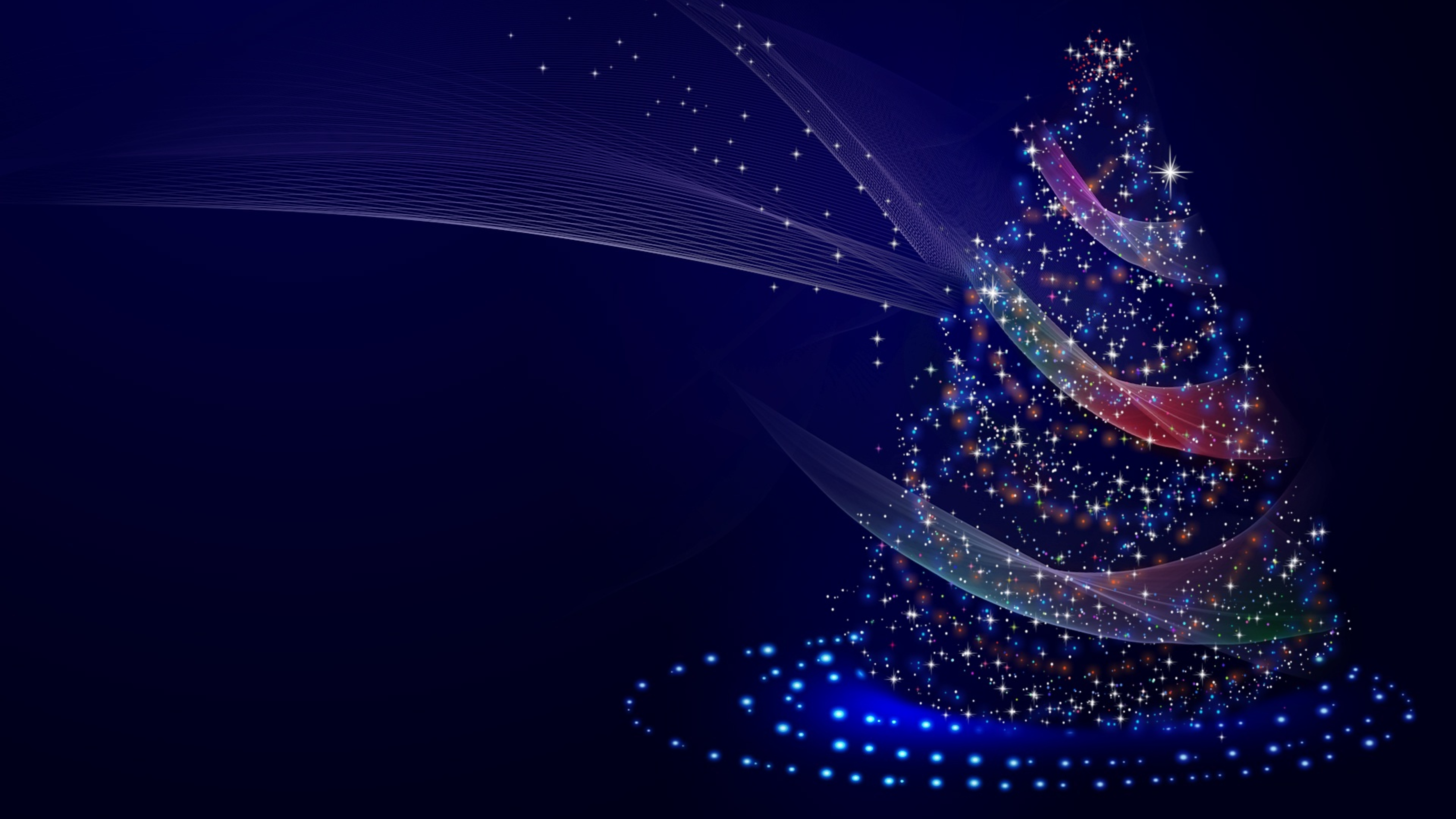 Download Artistic Blue Christmas Tree 480x854 Resolution