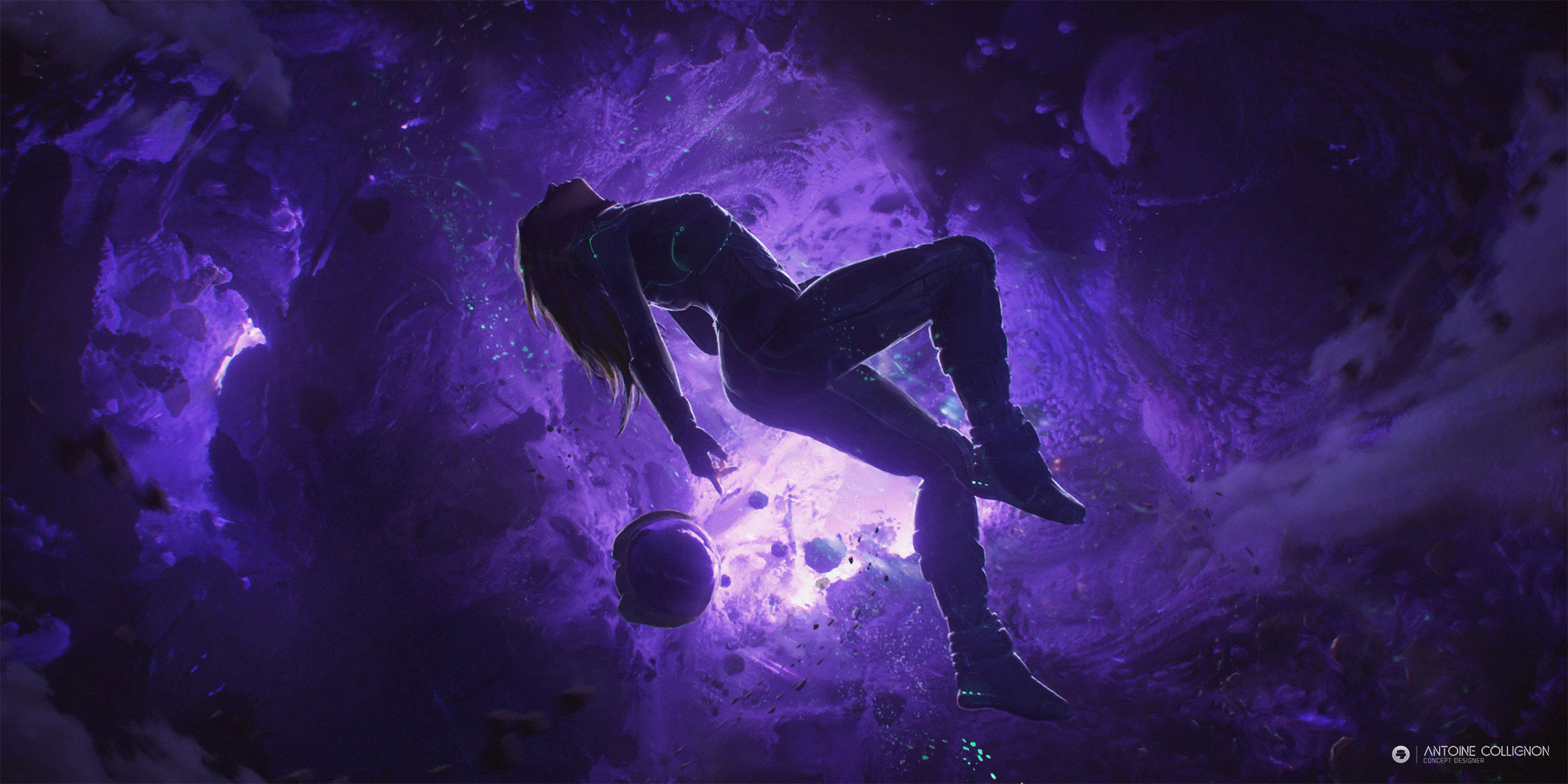 Wallpaper iPhone Stars on Purple Space