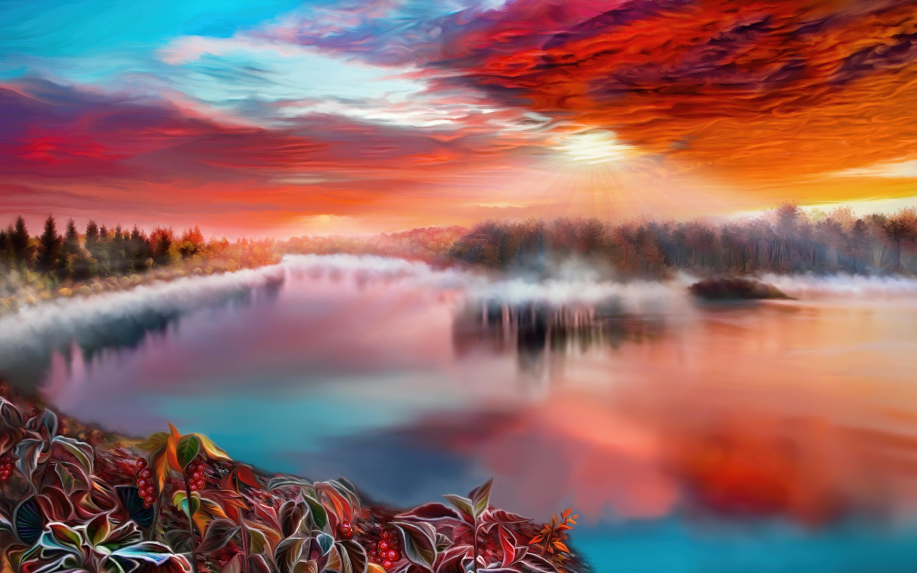 Winding River 4k Hd Desktop Wallpaper For 4k Ultra Hd Tv: Artistic River, HD 4K Wallpaper