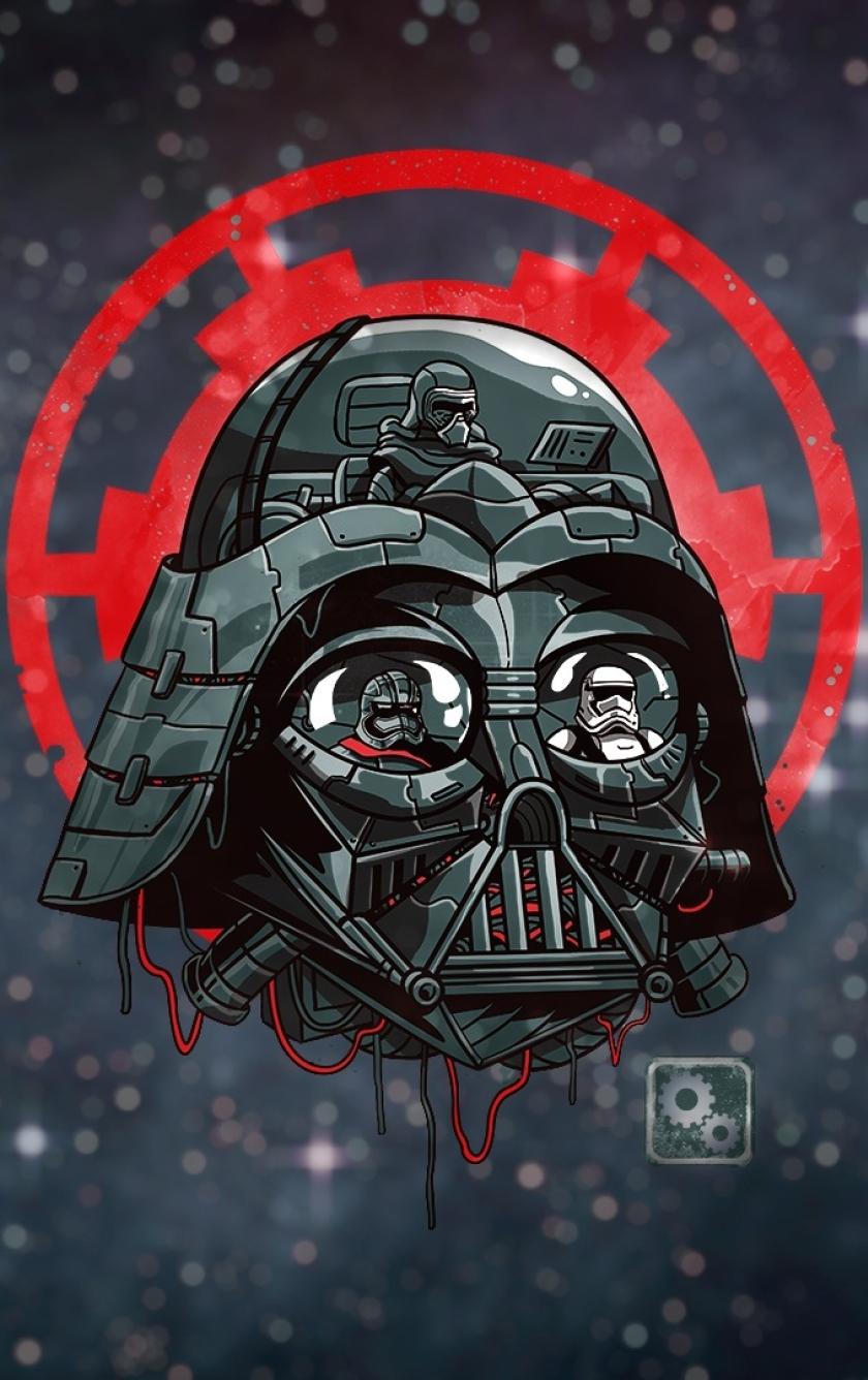 Artwork Darth Vader From Star Wars Full HD Wallpaper