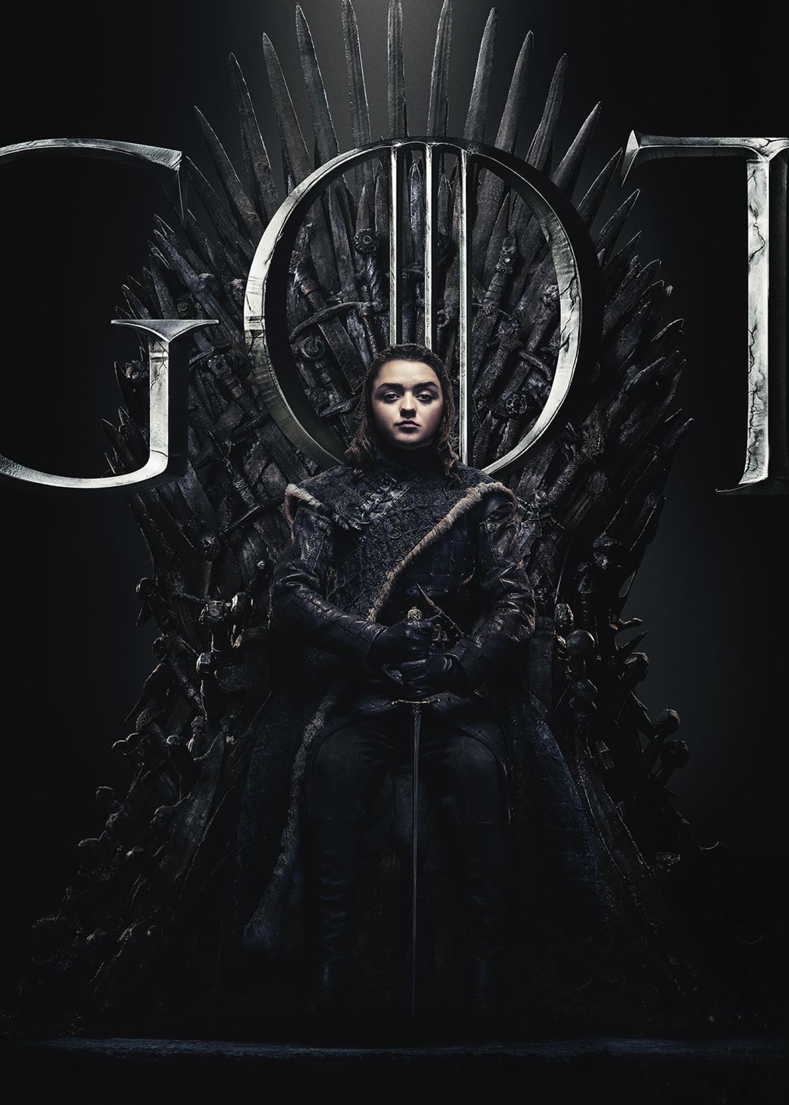 1536x2152 Arya Stark Game Of Thrones Season 8 Poster ...