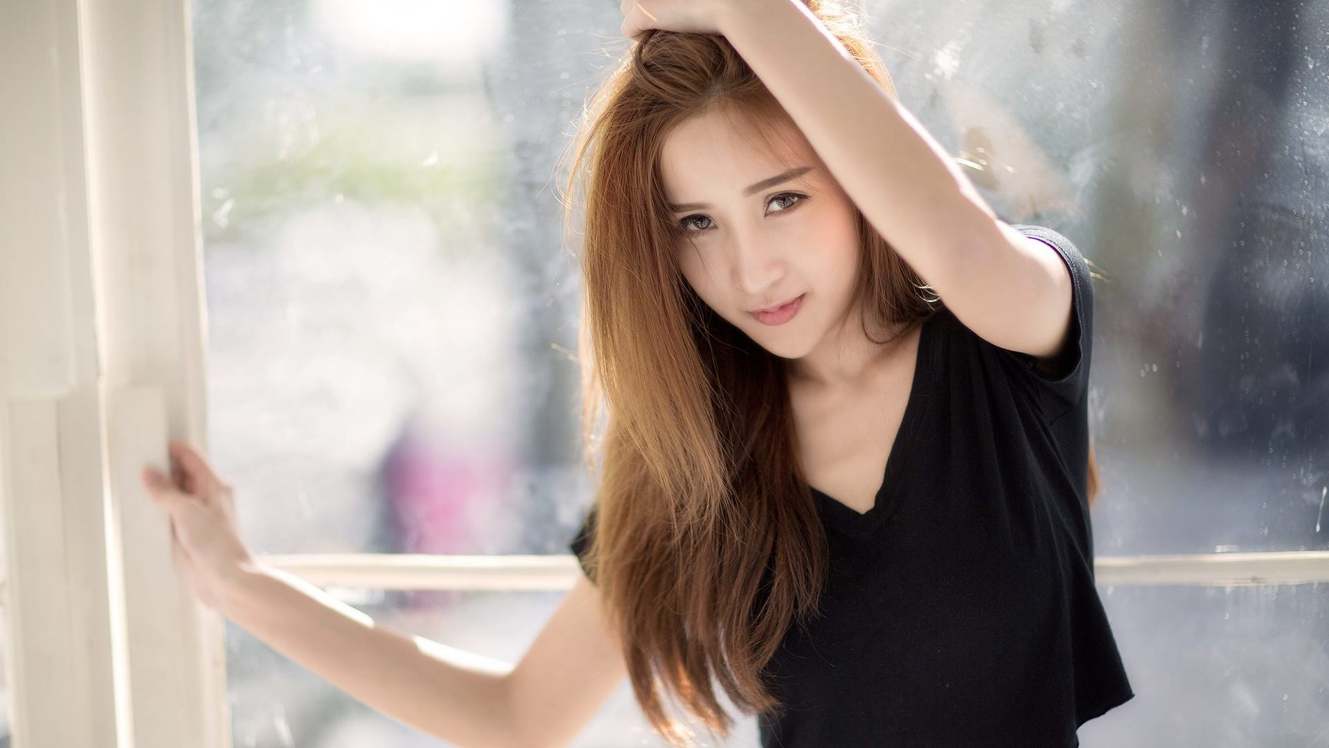 Download asian girl cute in black 1920x1080 resolution full hd 2k hd voltagebd Images