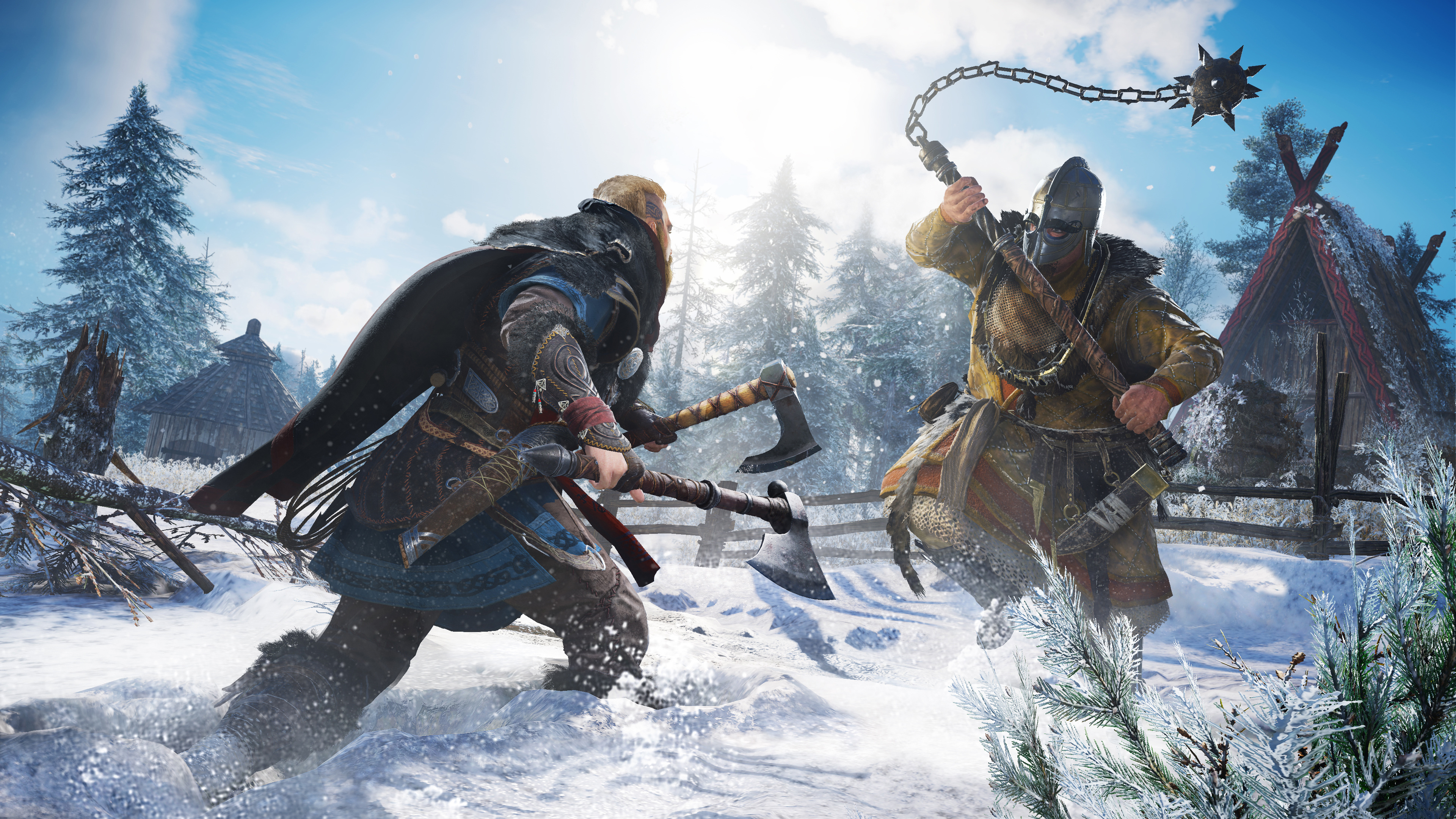 Assassin's Creed Valhalla Warrior Battle Wallpaper, HD ...