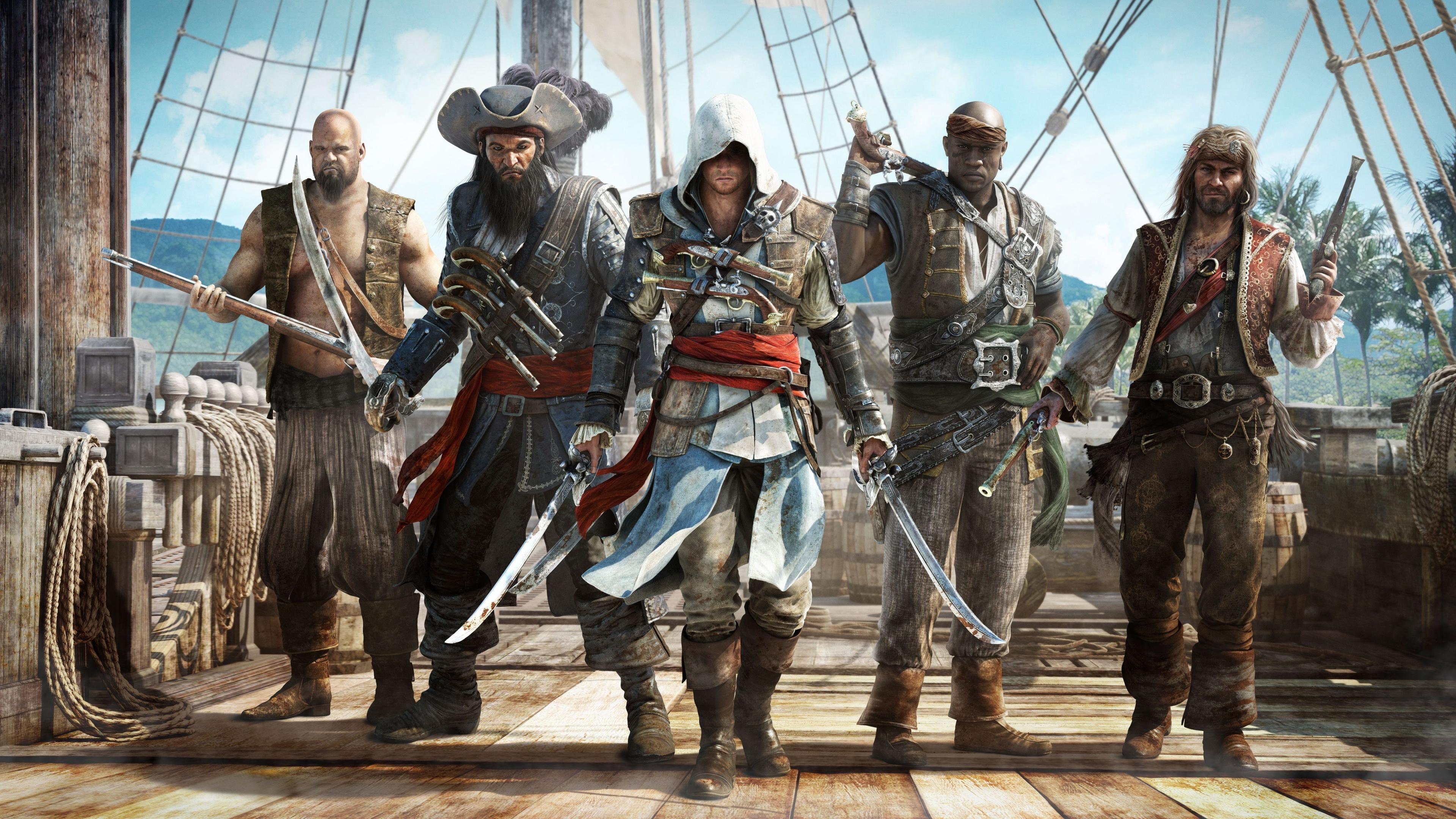 3840x2160 assassins creed, black flag, pirates 4K ...