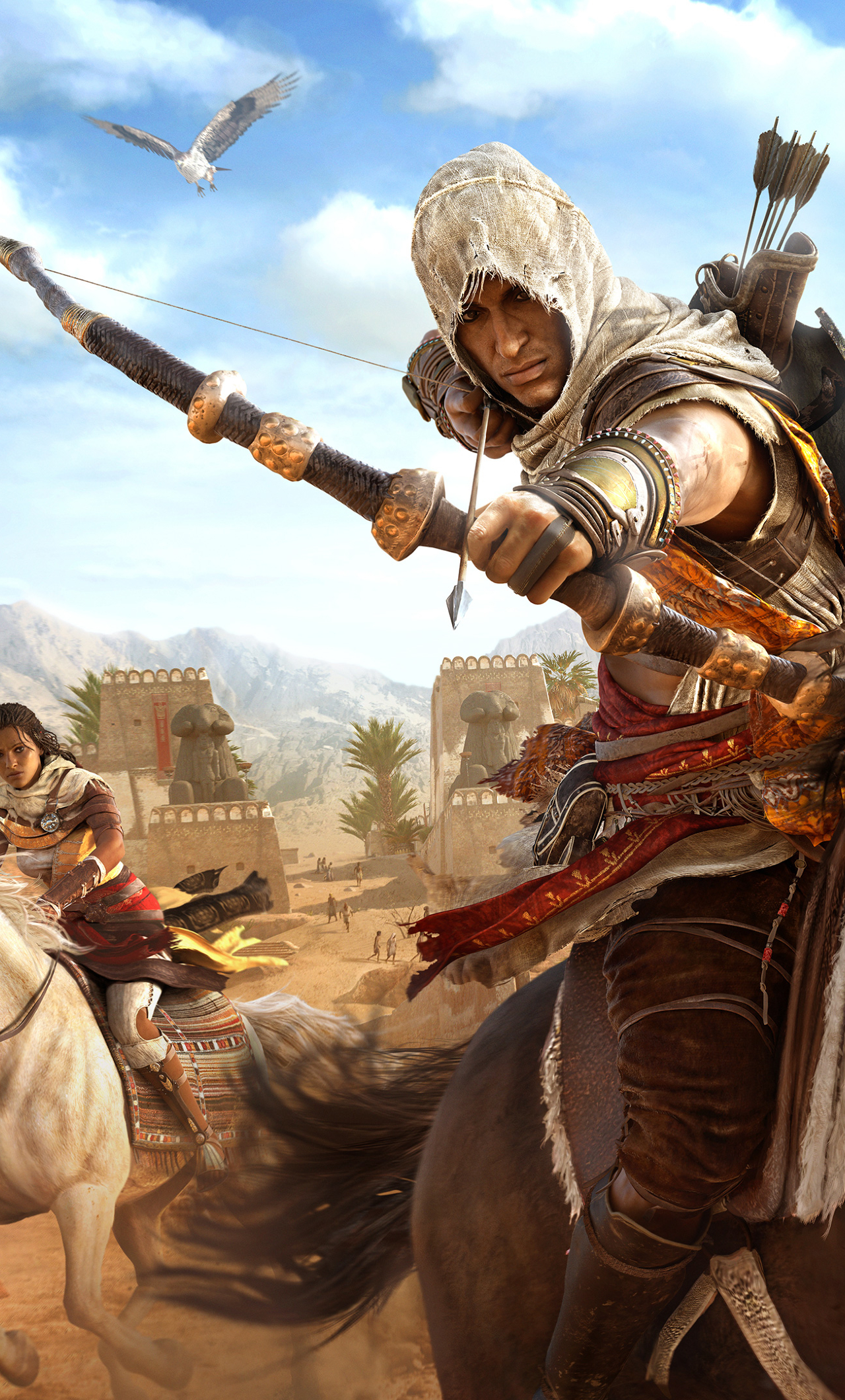 1280x2120 Assassins Creed Origins Bayek And Aya Iphone 6 Plus