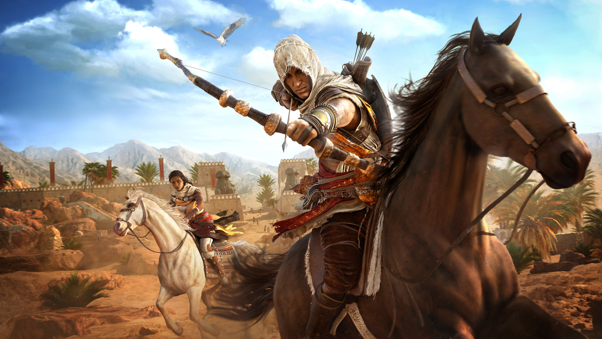 1920x1080 Assassins Creed Origins Bayek And Aya 1080p Laptop Full Hd Wallpaper Hd Games 4k Wallpapers Images Photos And Background