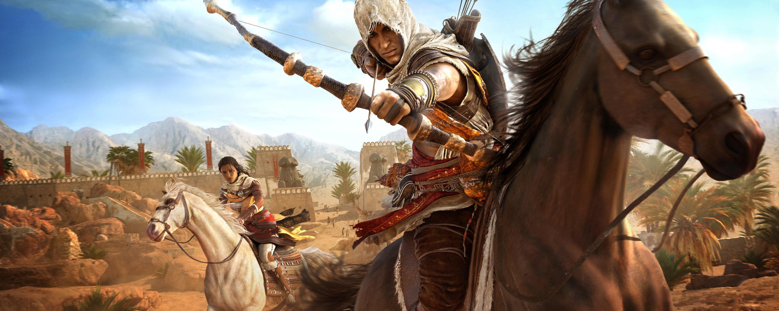 Assassins Creed Origins Bayek And Aya, HD 4K Wallpaper