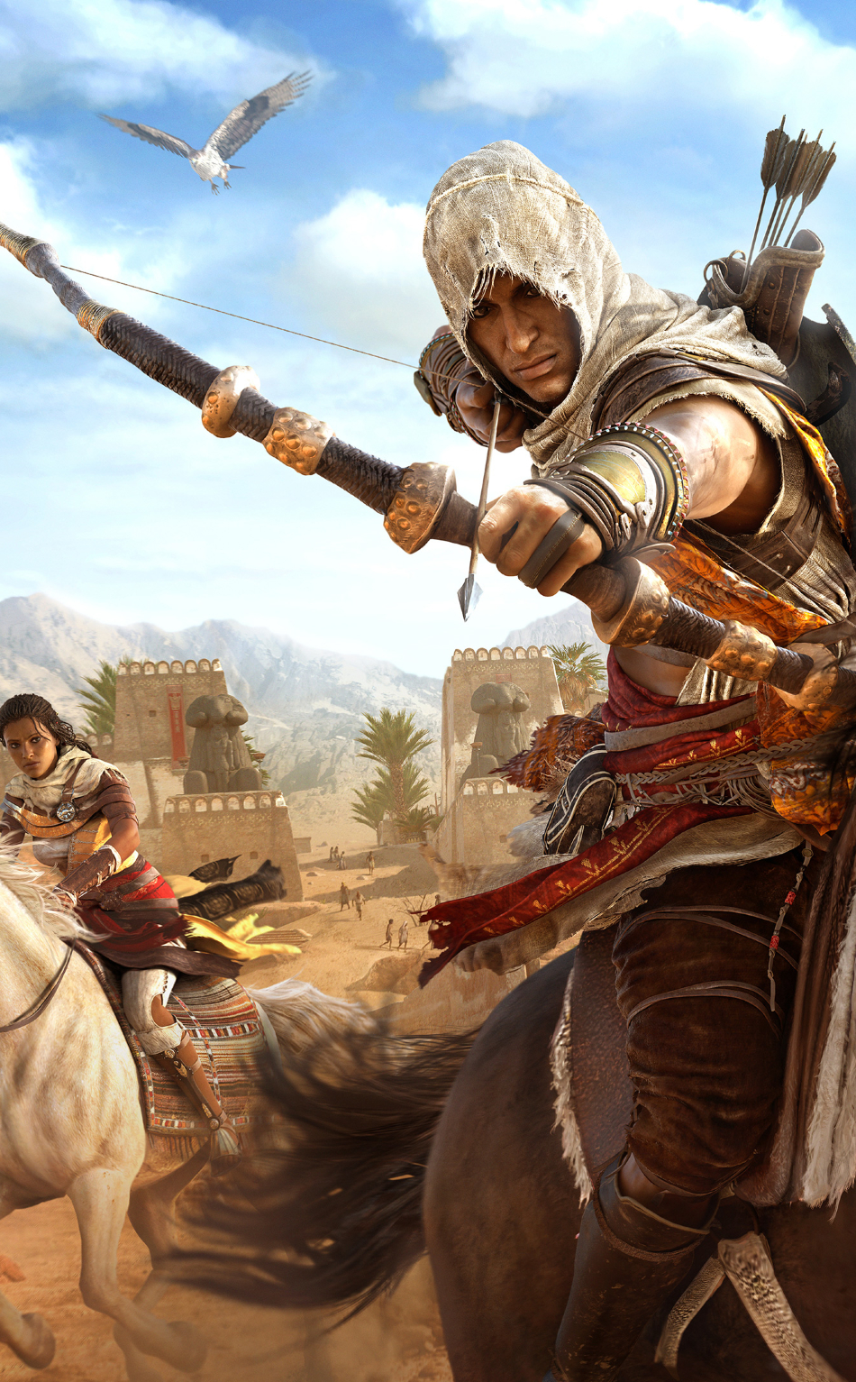 950x1534 Assassins Creed Origins Bayek And Aya 950x1534