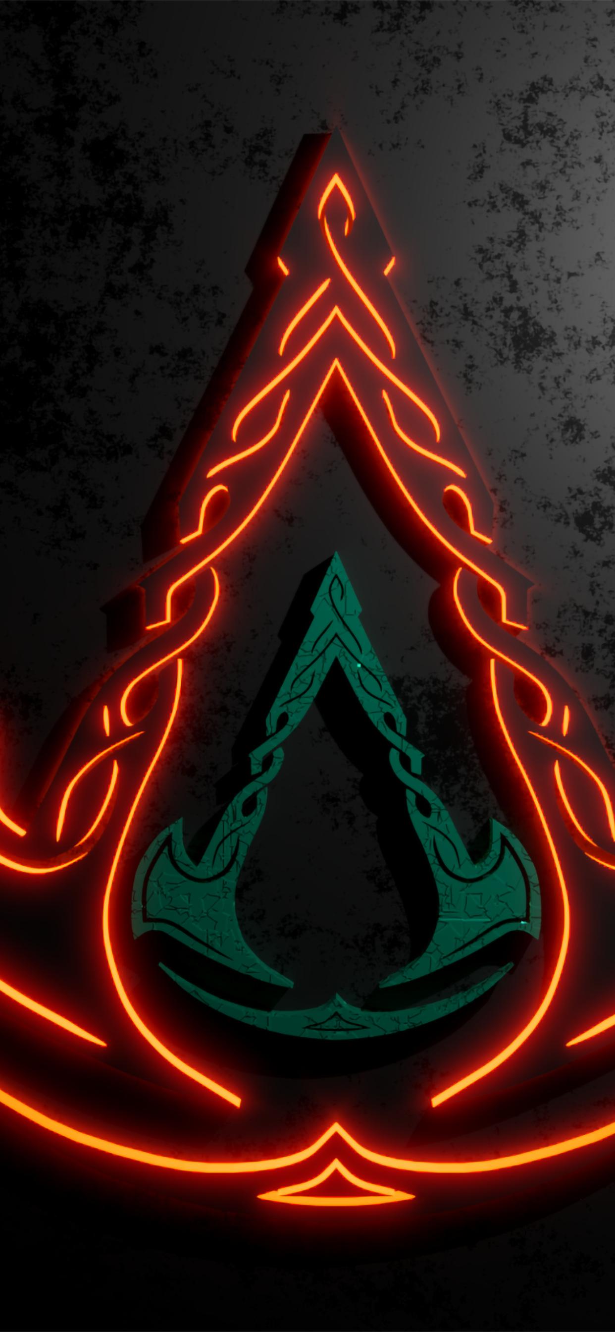 1242x2688 Assassins Creed Valhalla Cool Logo Iphone XS MAX ...