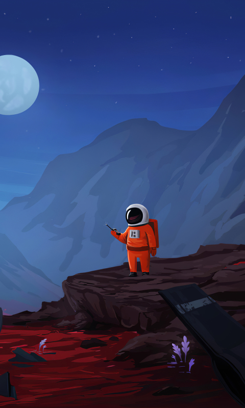 480x800 Astronaut Art 4k Galaxy Note Htc Desire Nokia Lumia 520 Asus Zenfone Wallpaper Hd Artist 4k Wallpapers Images Photos And Background
