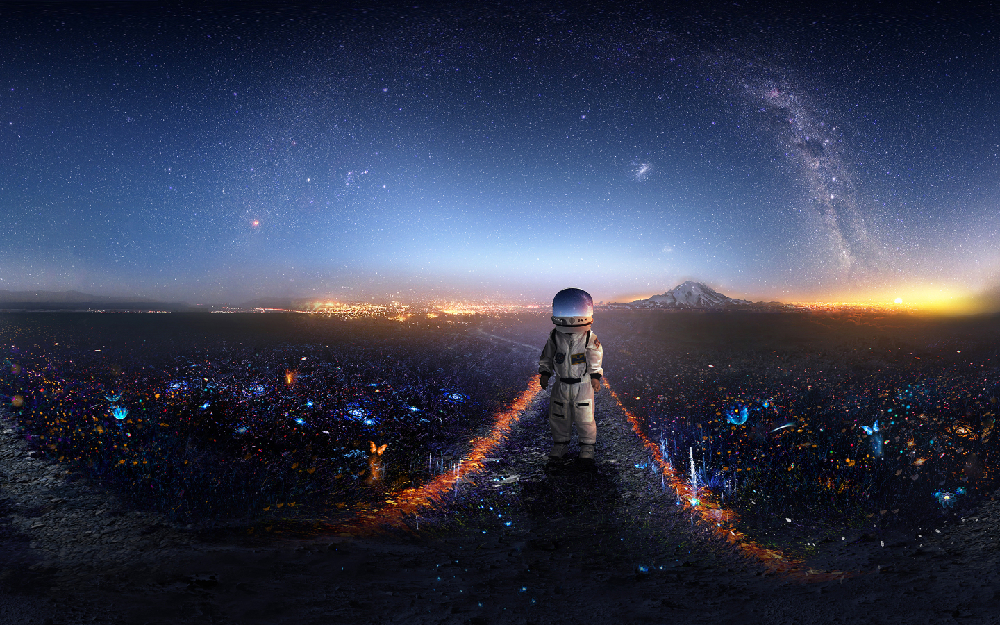 Download Samsung Galaxy Hd Wallpaper Gallery: Download Astronaut Creative Artwork 7680x4320 Resolution