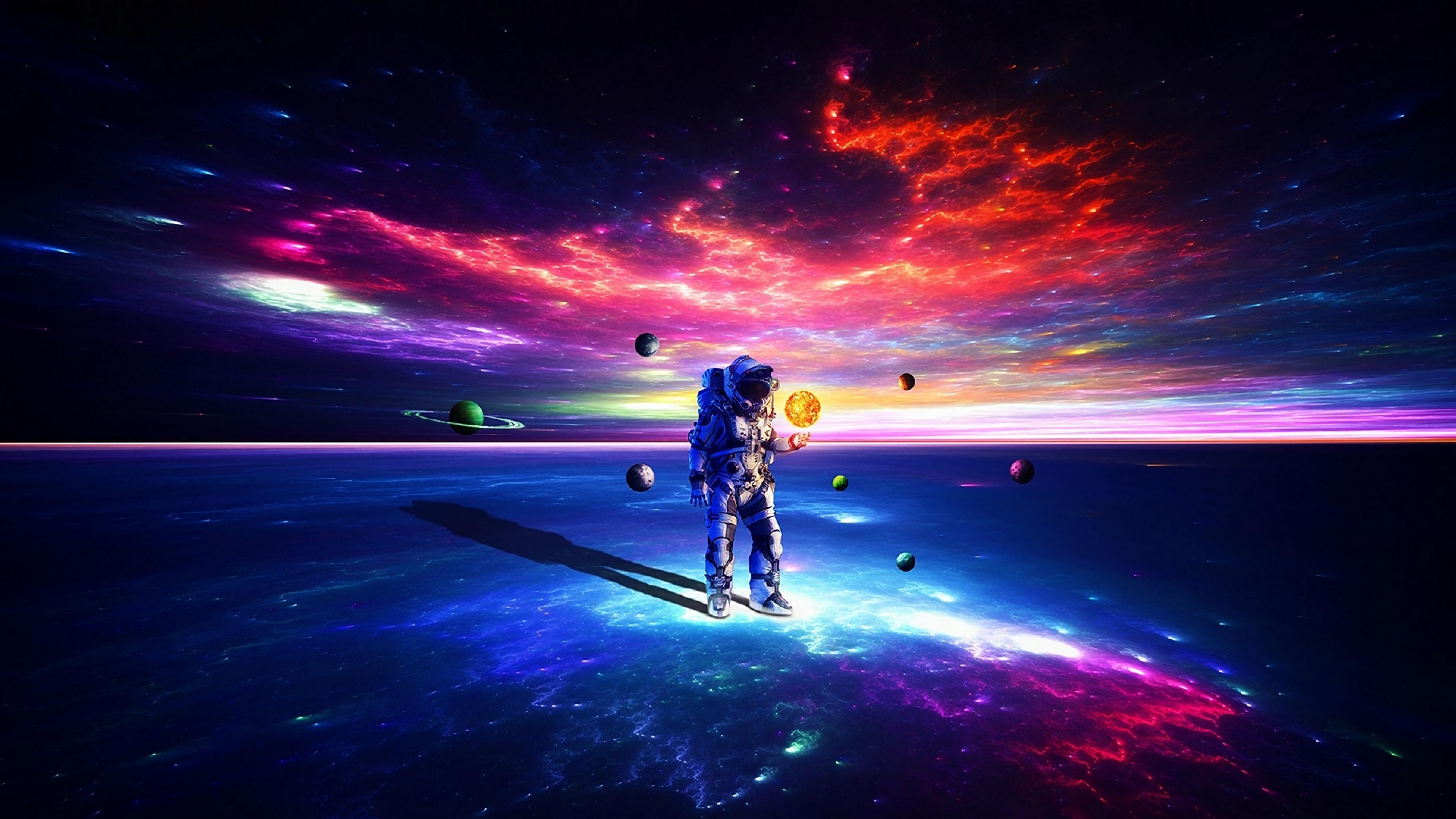 3840x2160 Astronaut Exploring Space 4K Wallpaper, HD ...