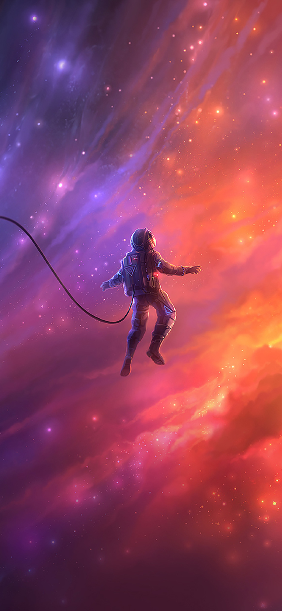 1125x2436 Astronaut In Space Iphone XS,Iphone 10,Iphone X ...