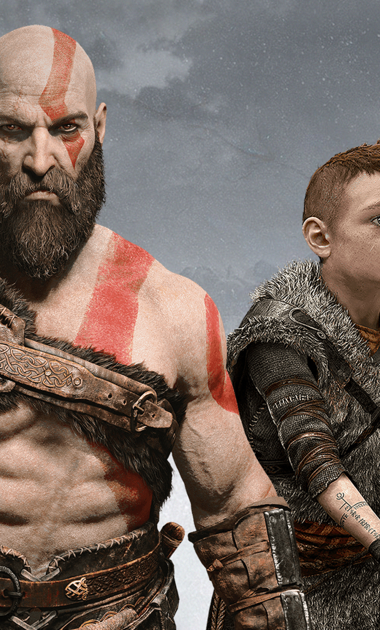 Download Atreus Kratos God Of War 2018 480x854 Resolution Full HD