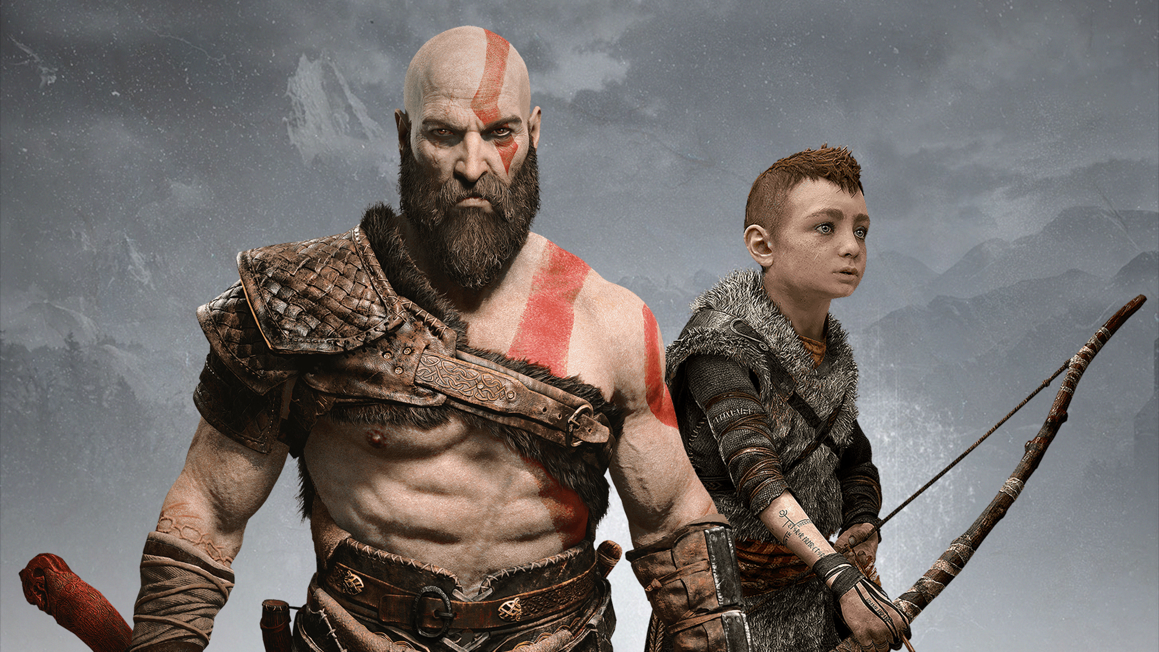3840x2160 Atreus Kratos God Of War 2018 4k Wallpaper Hd Games 4k