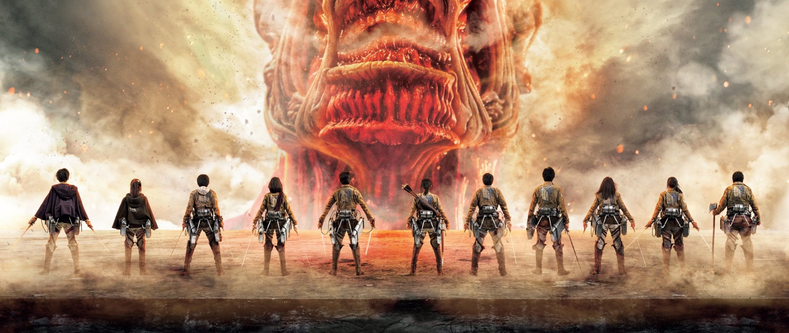 2560x1080 Attack On Titan Japanese TV Series Poster ...