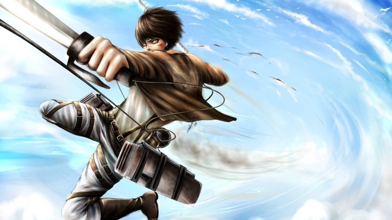 1280x720 Attack On Titan Shingeki No Kyojin Eren Jaeger