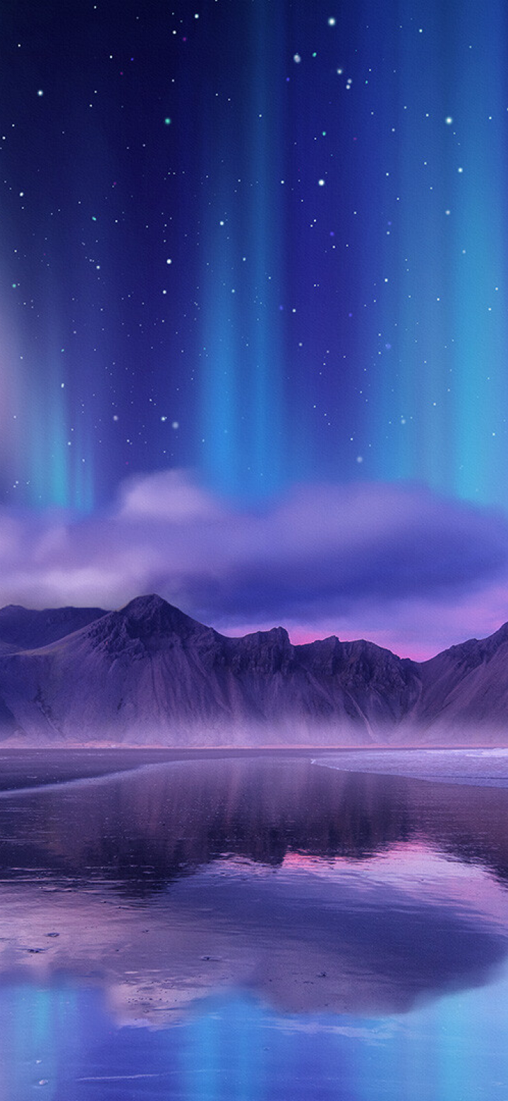 720x1560 Aurora Borealis Digital Art 720x1560 Resolution ...